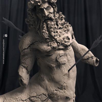 Surajit sen arrowstuck digital sculpture surajitsen aug2019