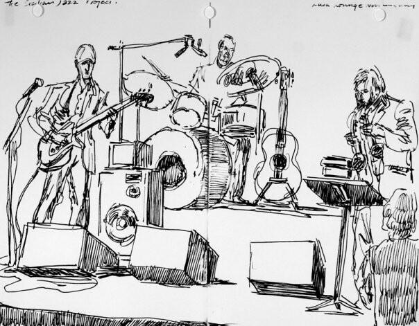 Lula Lounge world music festival. Michael Occhipinti and Ernie Tollar.
