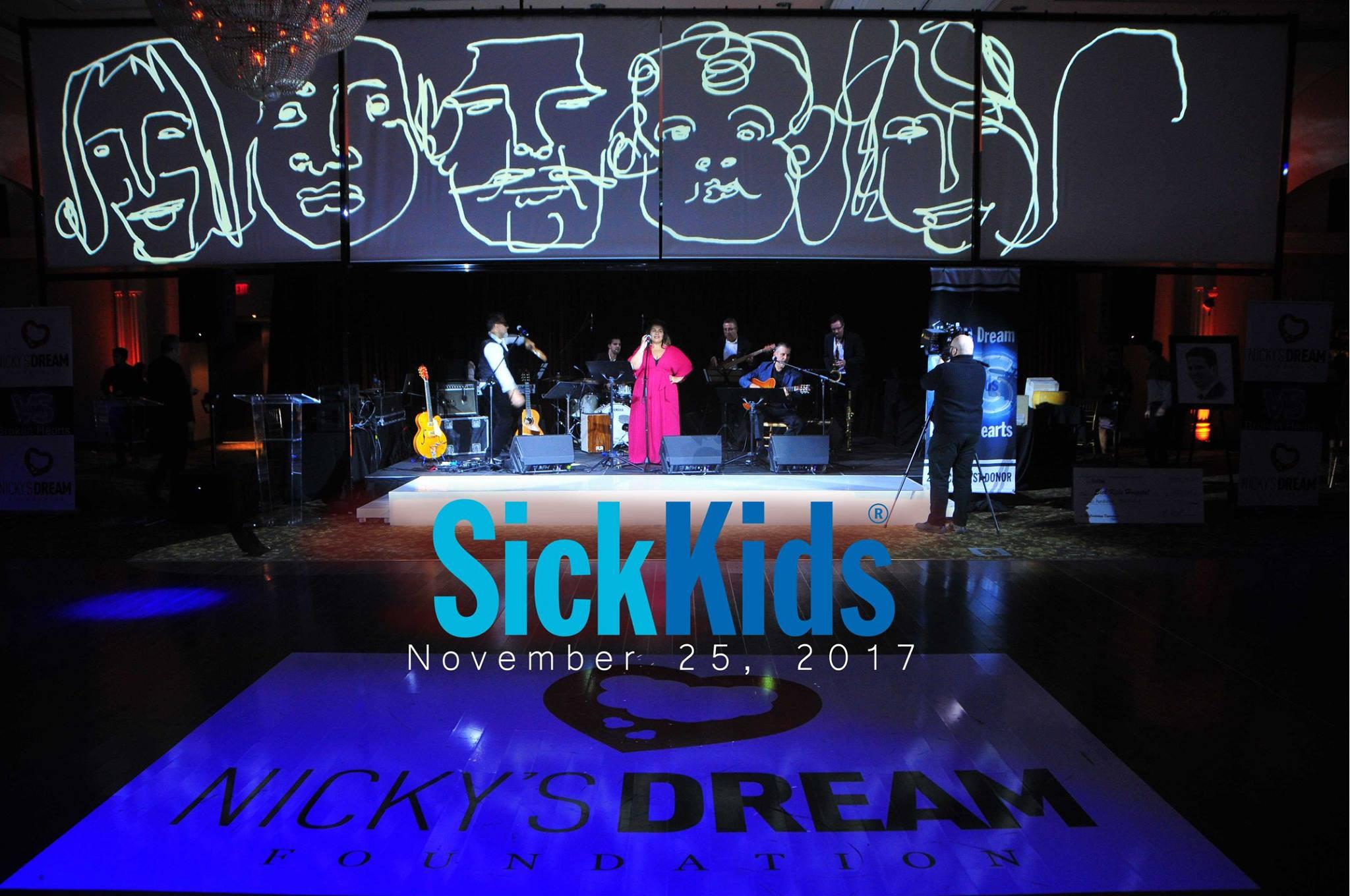 Multi media performance at Sick Kids Gala.