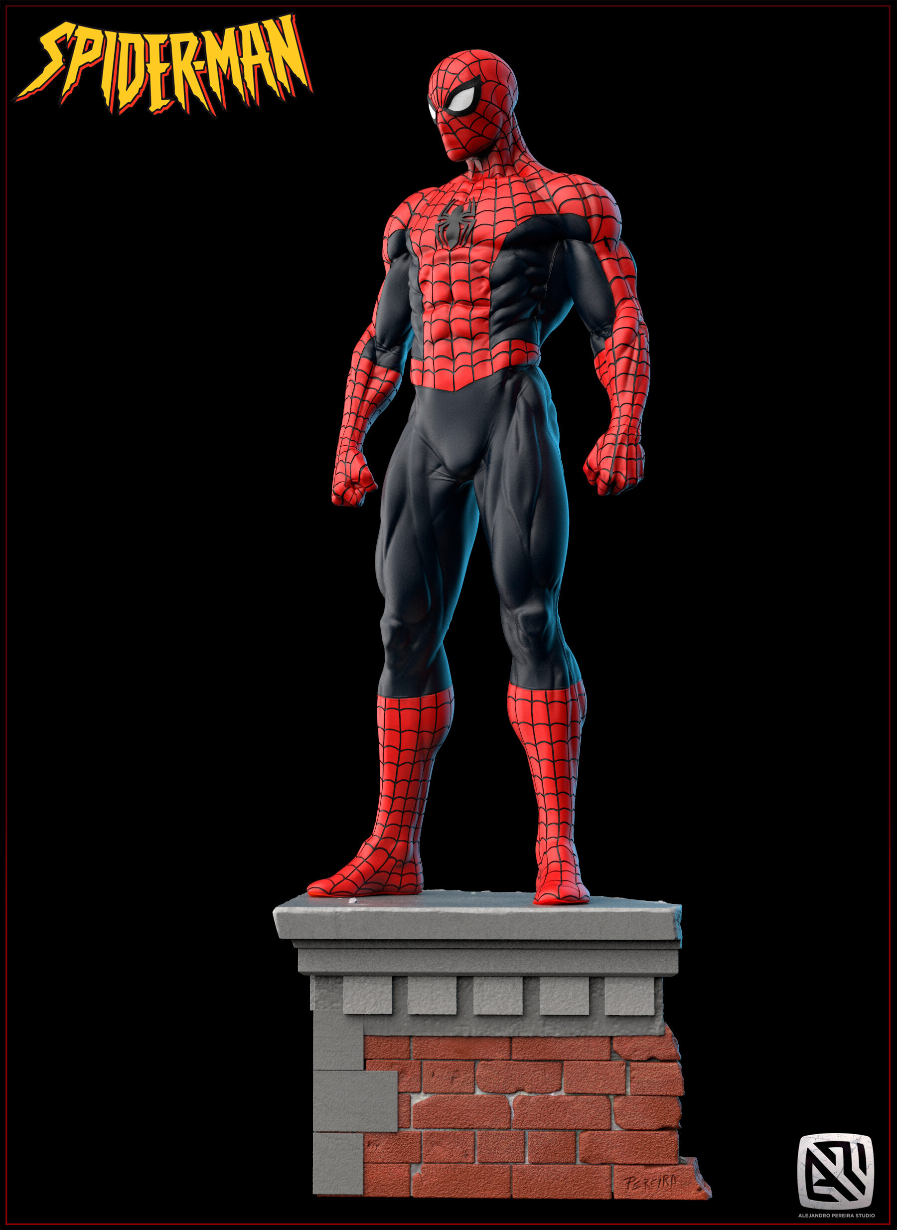 Alejandro pereira spidey render color 012