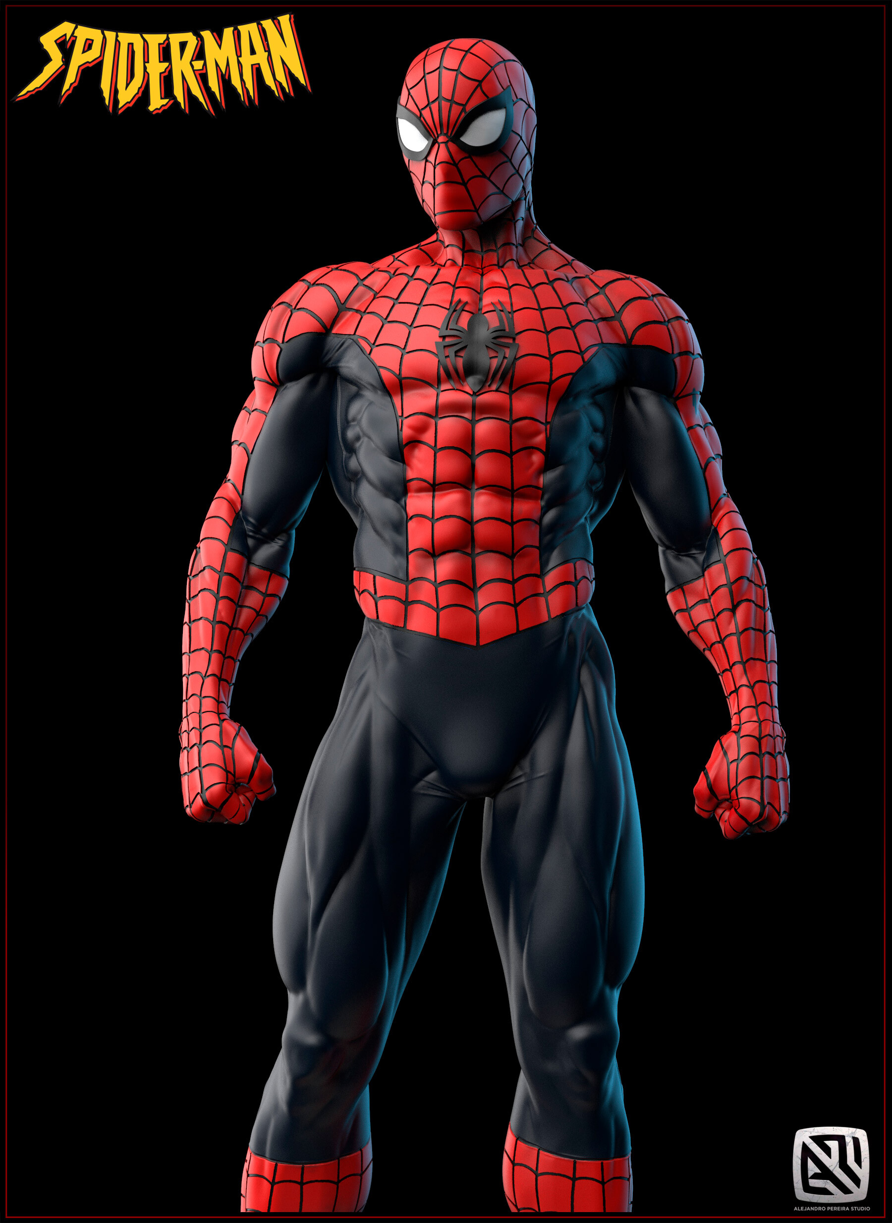Alejandro pereira spidey render color 017