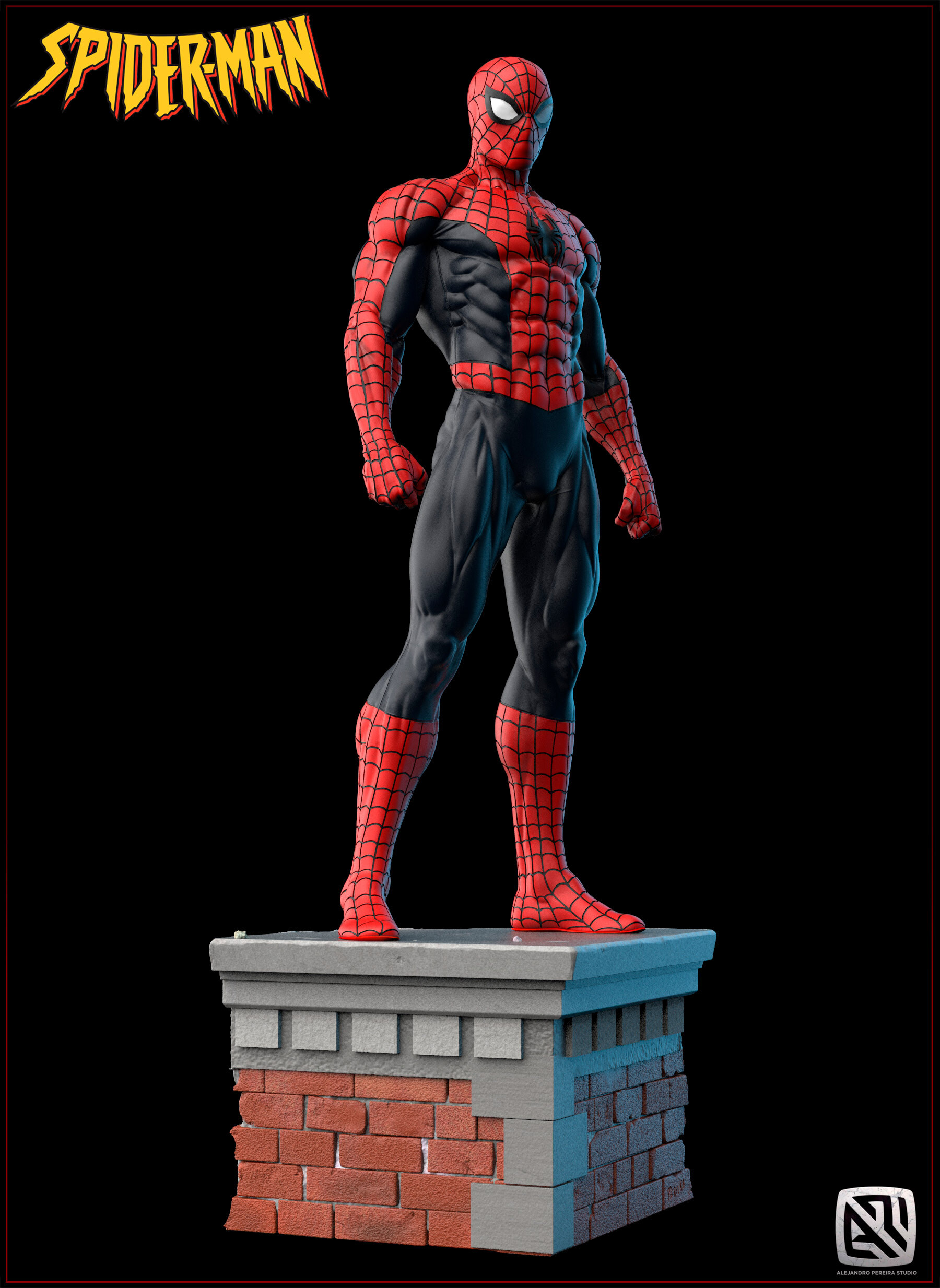 Alejandro pereira spidey render color 011