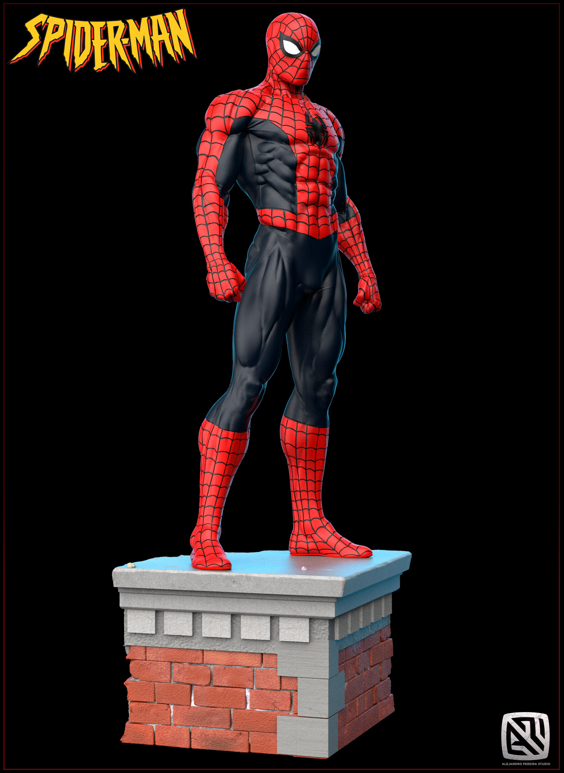 Alejandro pereira spidey render color 016
