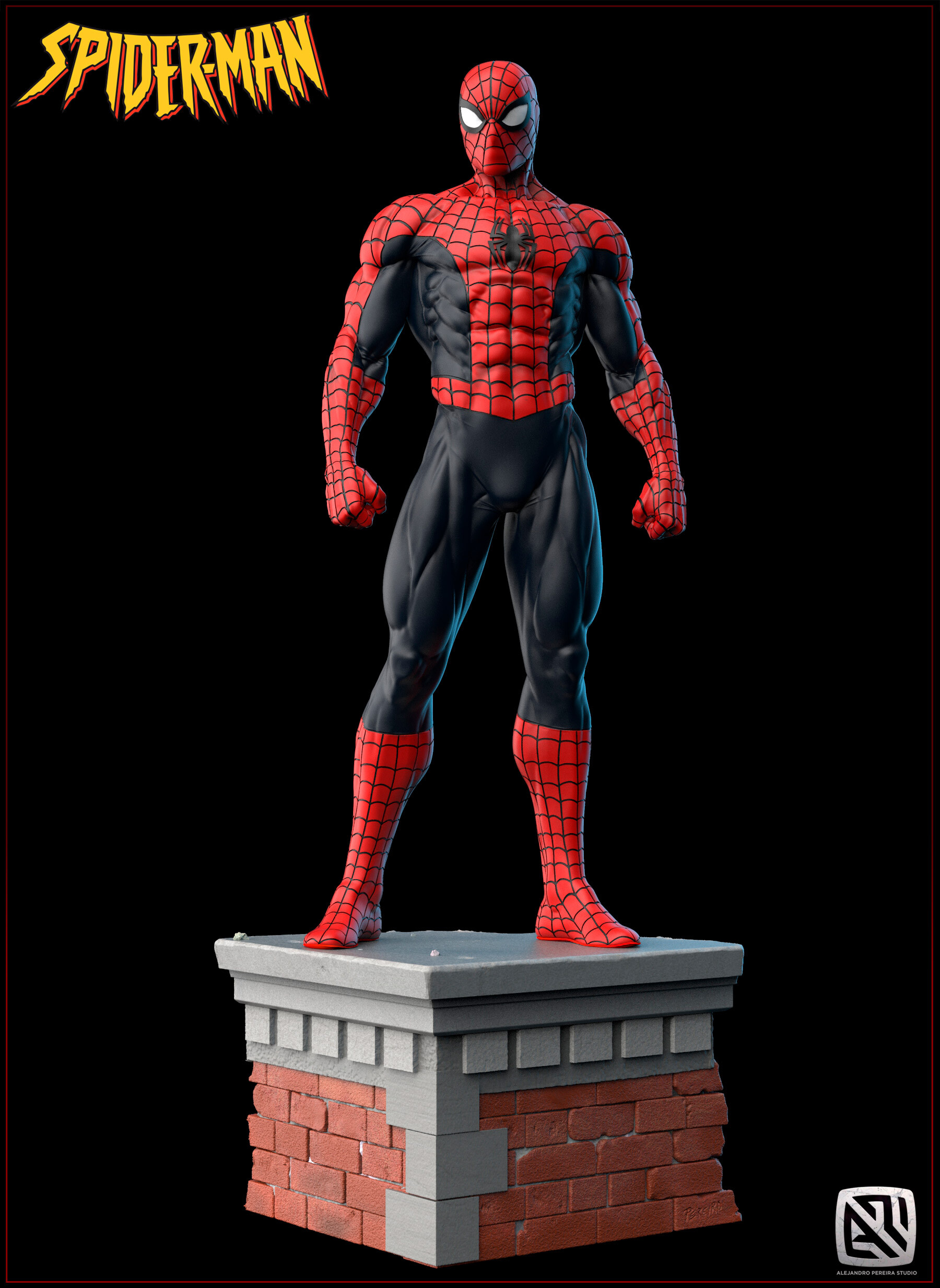 Alejandro pereira spidey render color 010