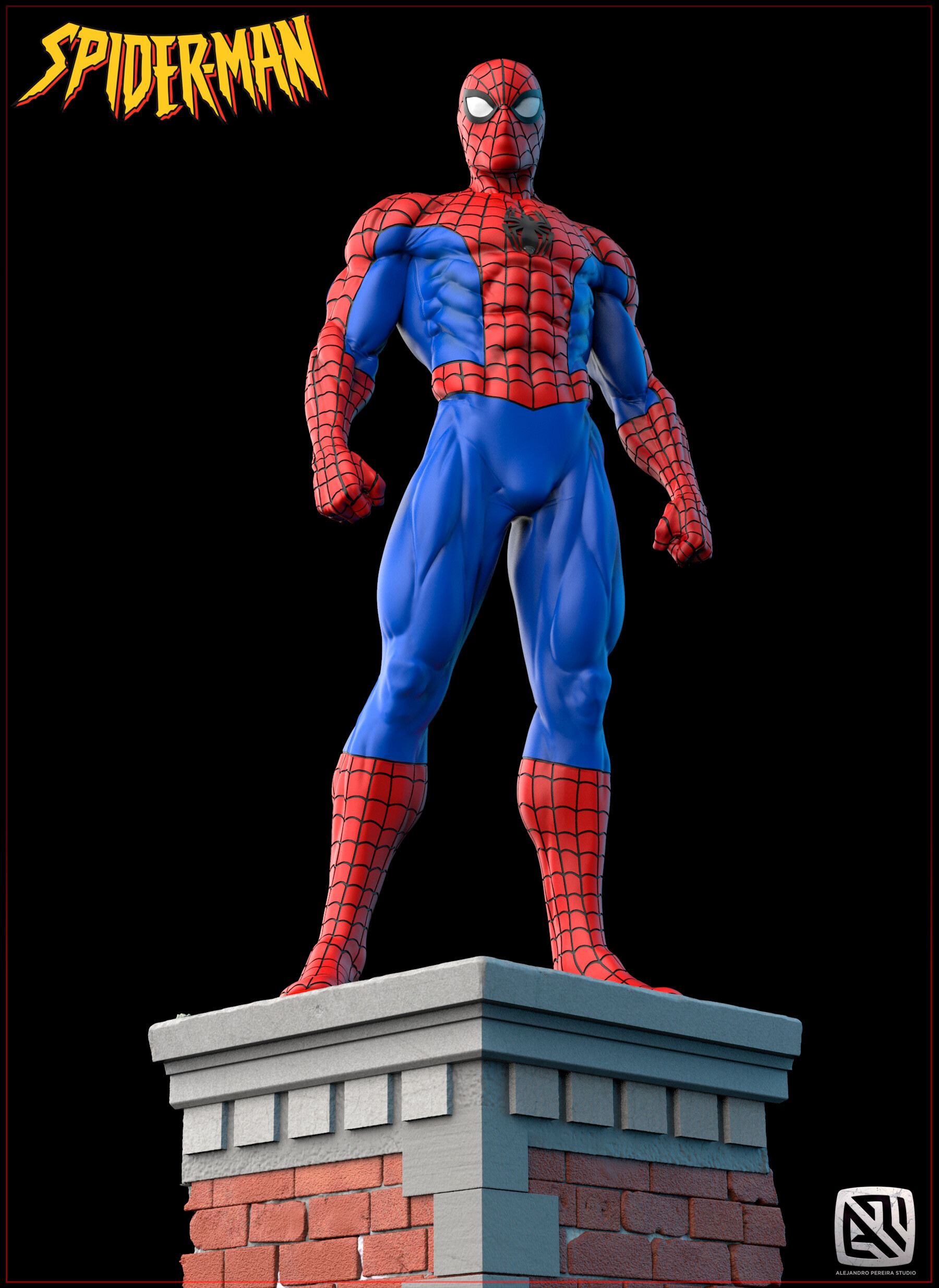 Alejandro pereira spidey render color 05