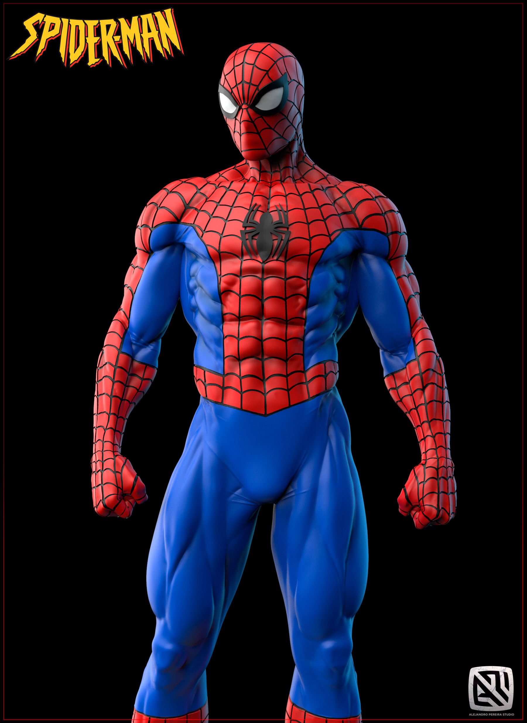 Alejandro pereira spidey render color 08
