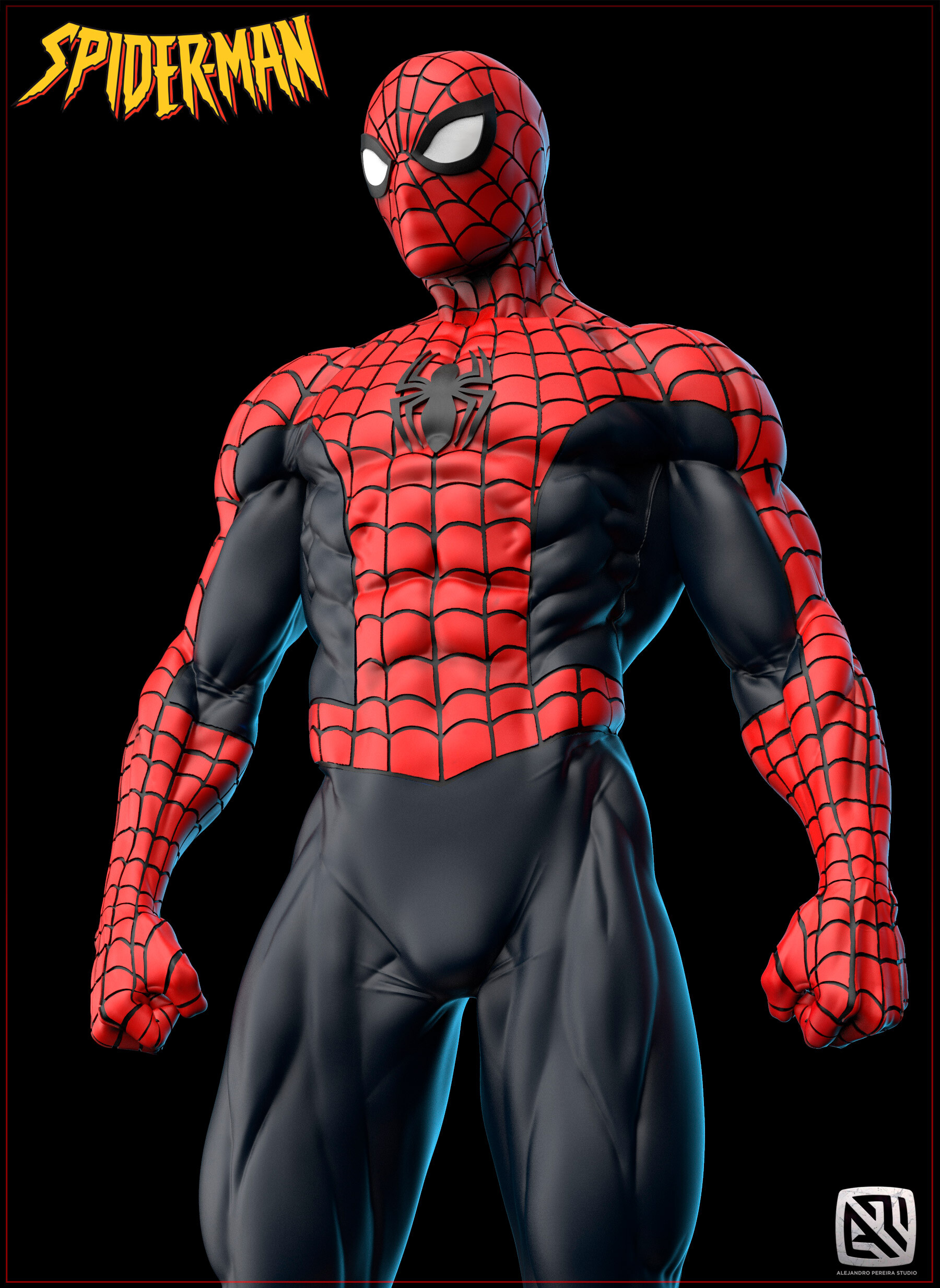 Alejandro pereira spidey render color 013