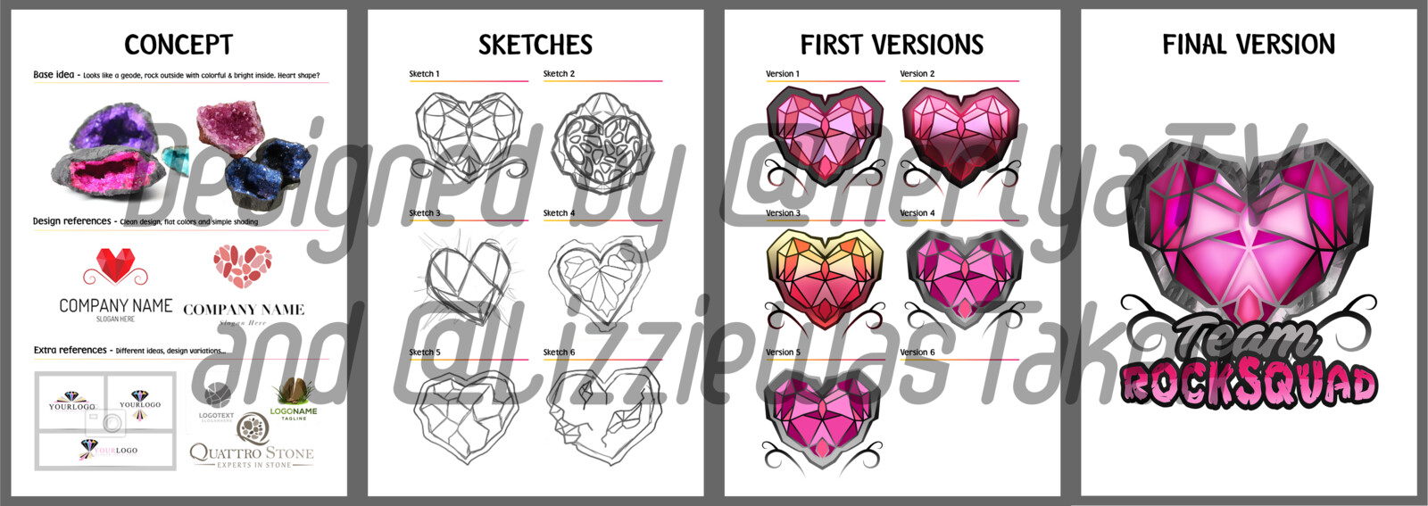 Here's full details on the process of the logo. I collabed with @LizzieWasTaken on Twitter for this !