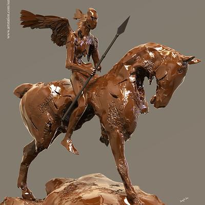 Surajit sen broken angel digital sculpture surajitsen aug2019