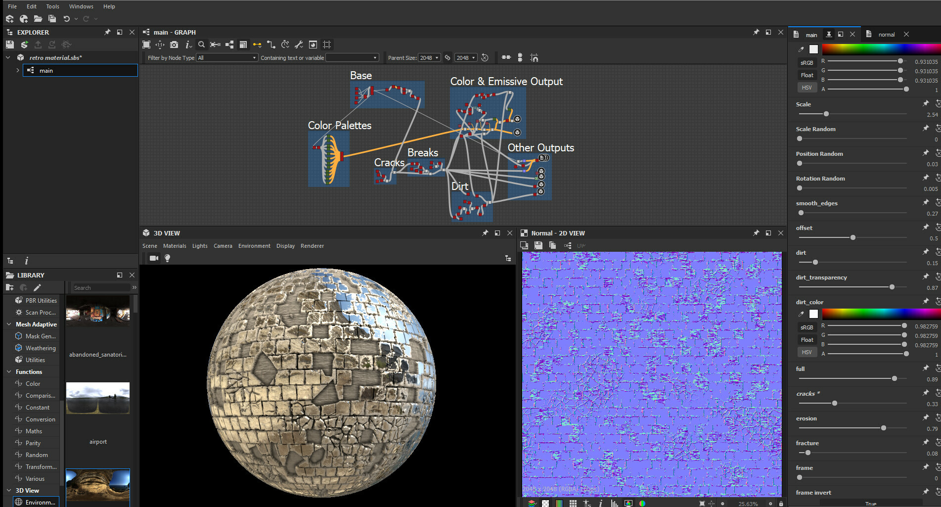 Btw, I made the Disco Material for retro texturing purposes with Substance Designer: