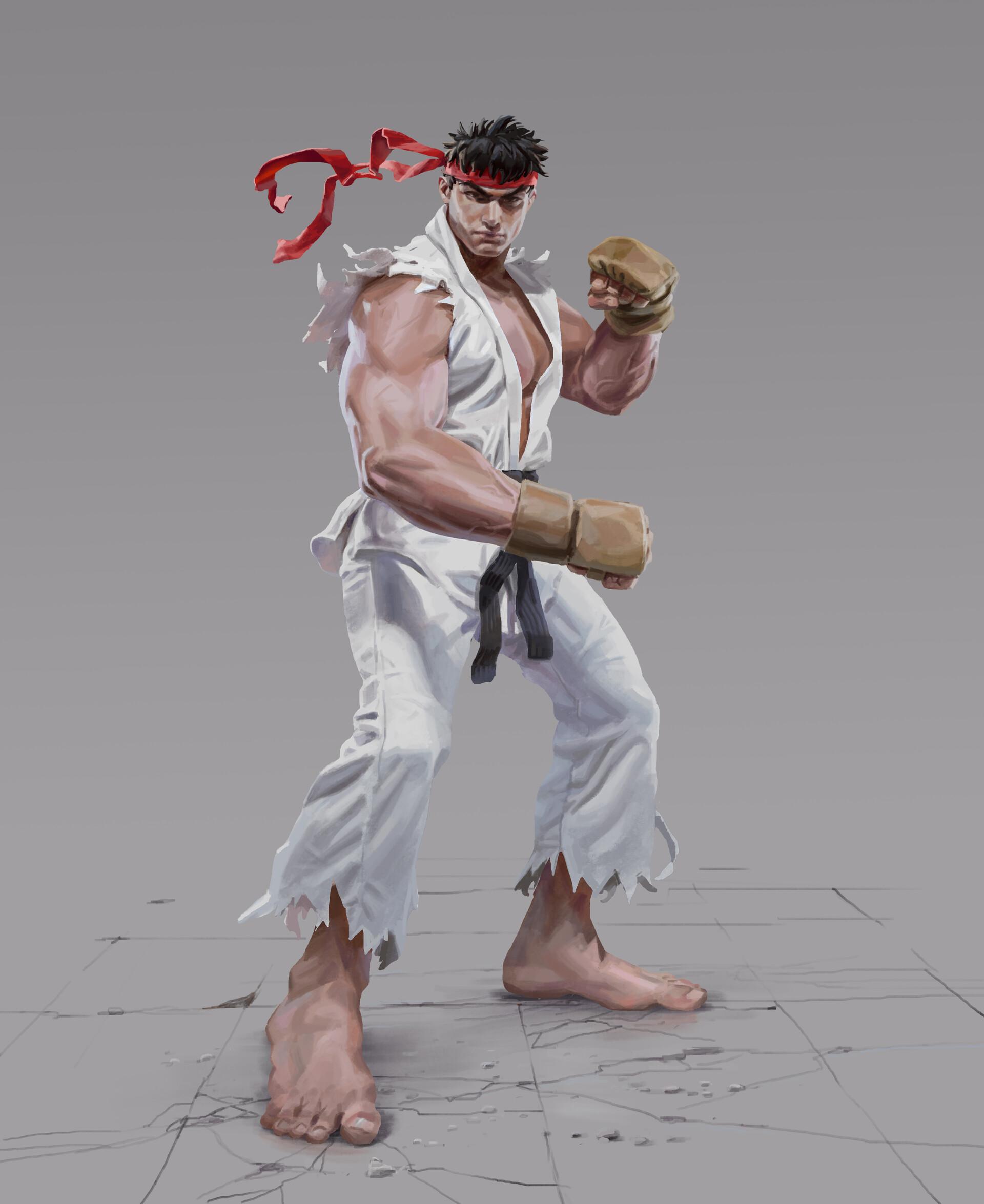 Artstation Ryu Street Fighter Fan Art Daniel Clarke