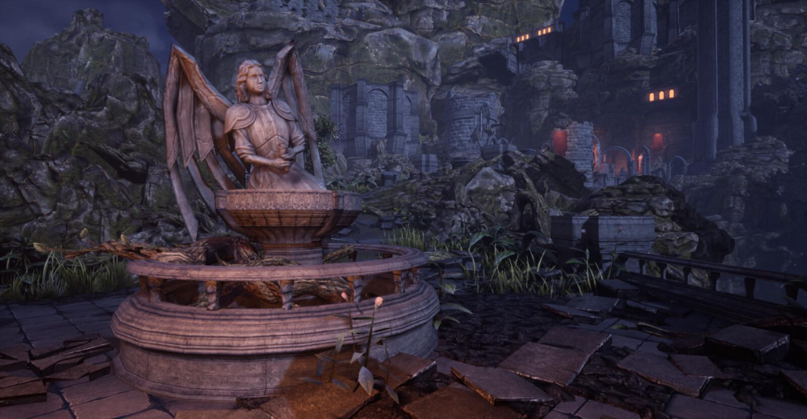 Angel Fountain - Night