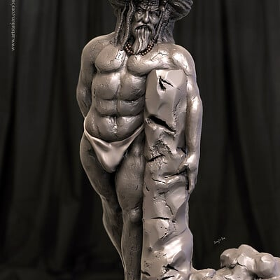 Surajit sen angry saint digital sculpture surajitsen aug2019