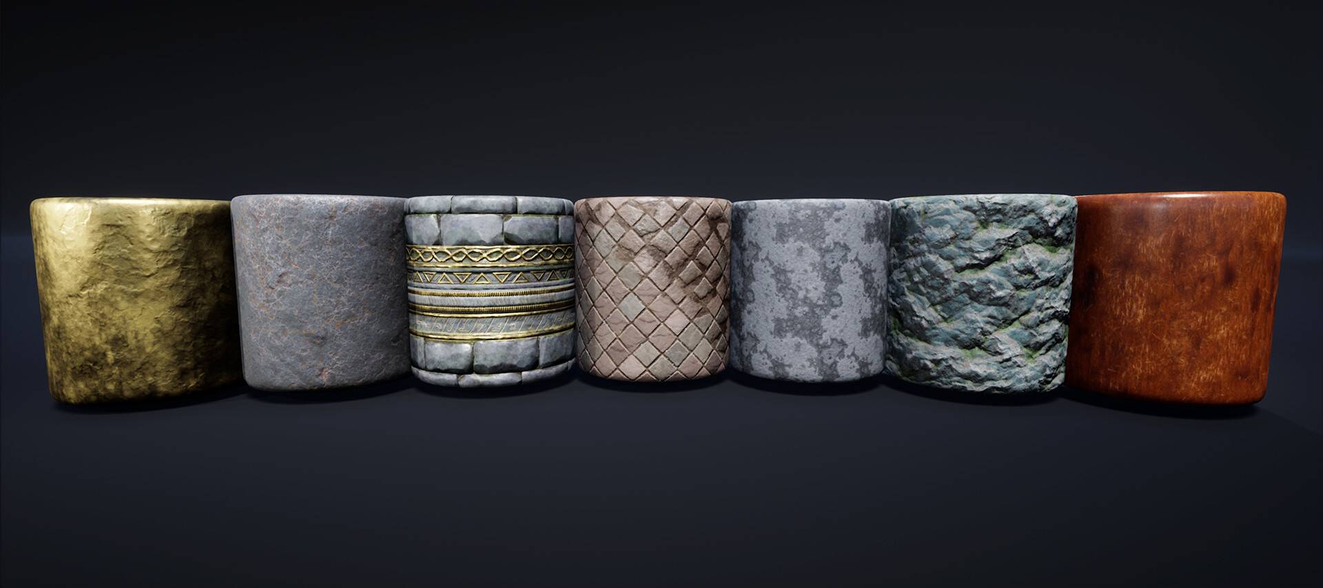 Materials - Rendered in UE4