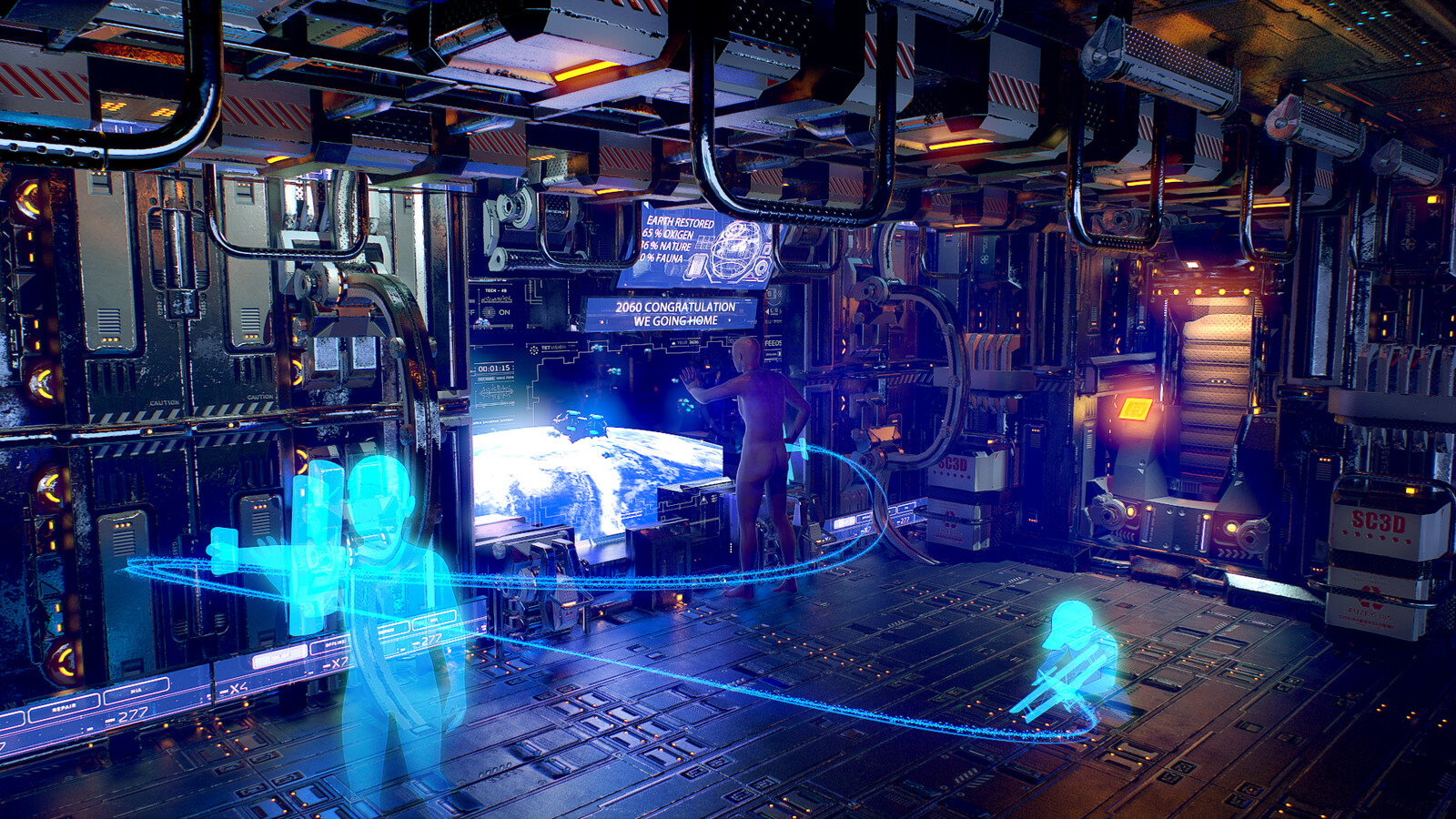 Sci -fi modural room   created for the Artstation challange.