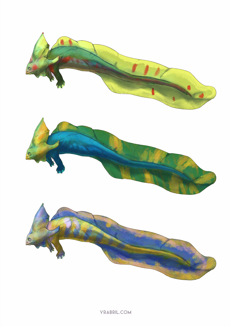 Creature Design - Color Variations