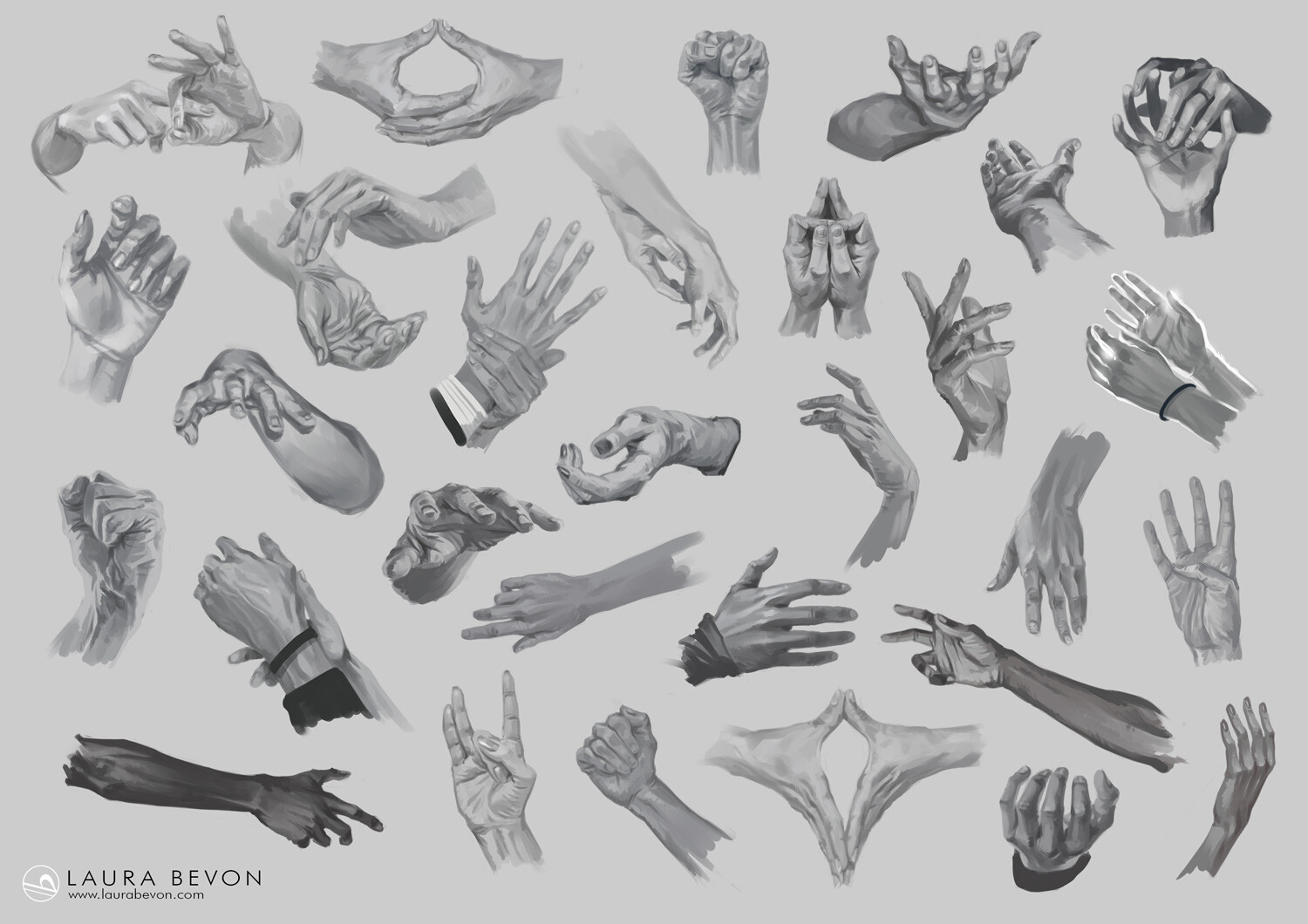 Studies - Hands Sketches