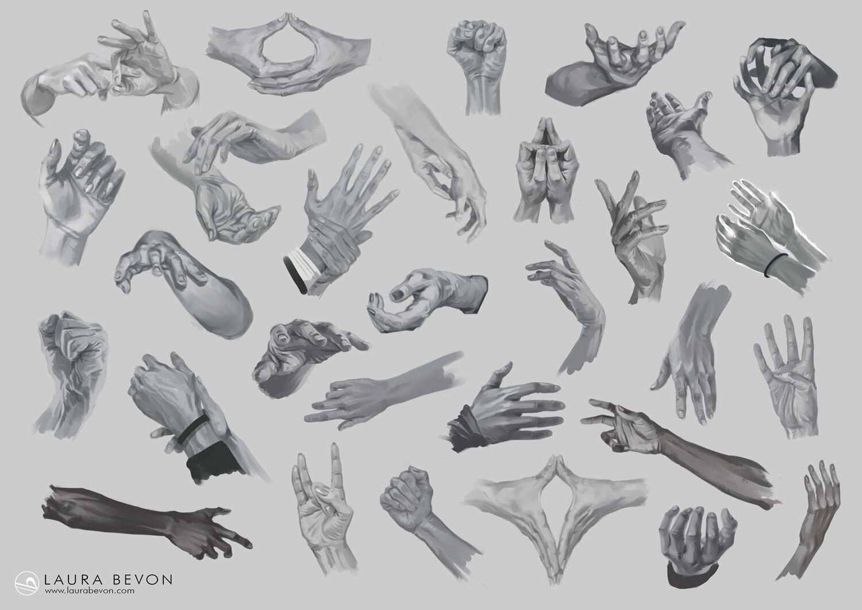 Studies - Hands Sketches