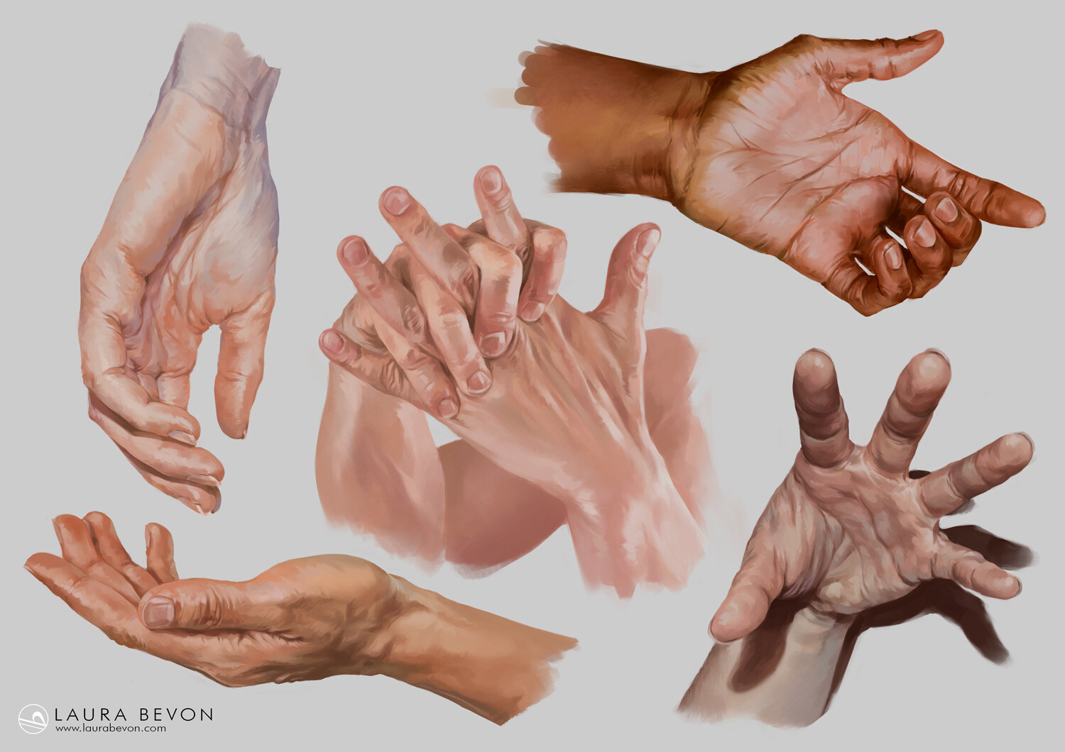 Studies - Hands Rendering