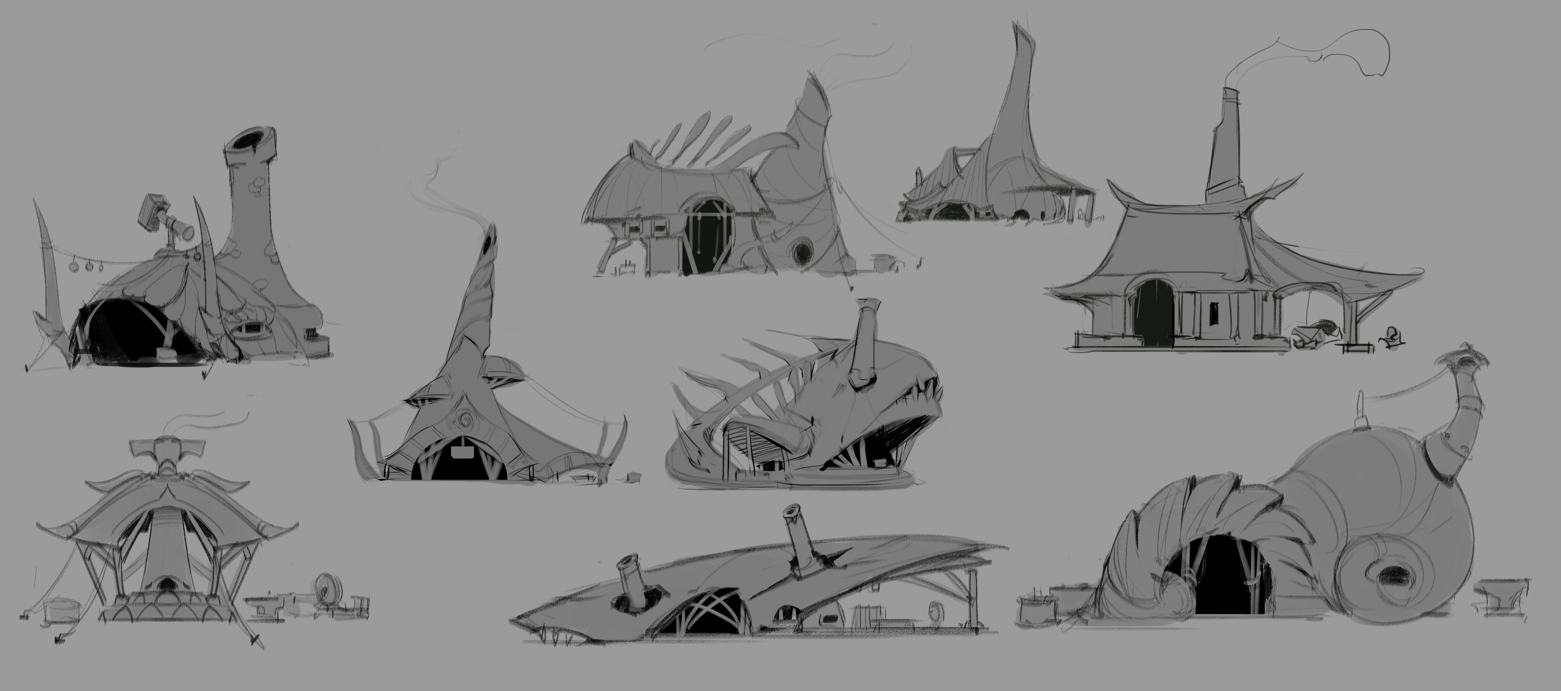 Exploration sketches