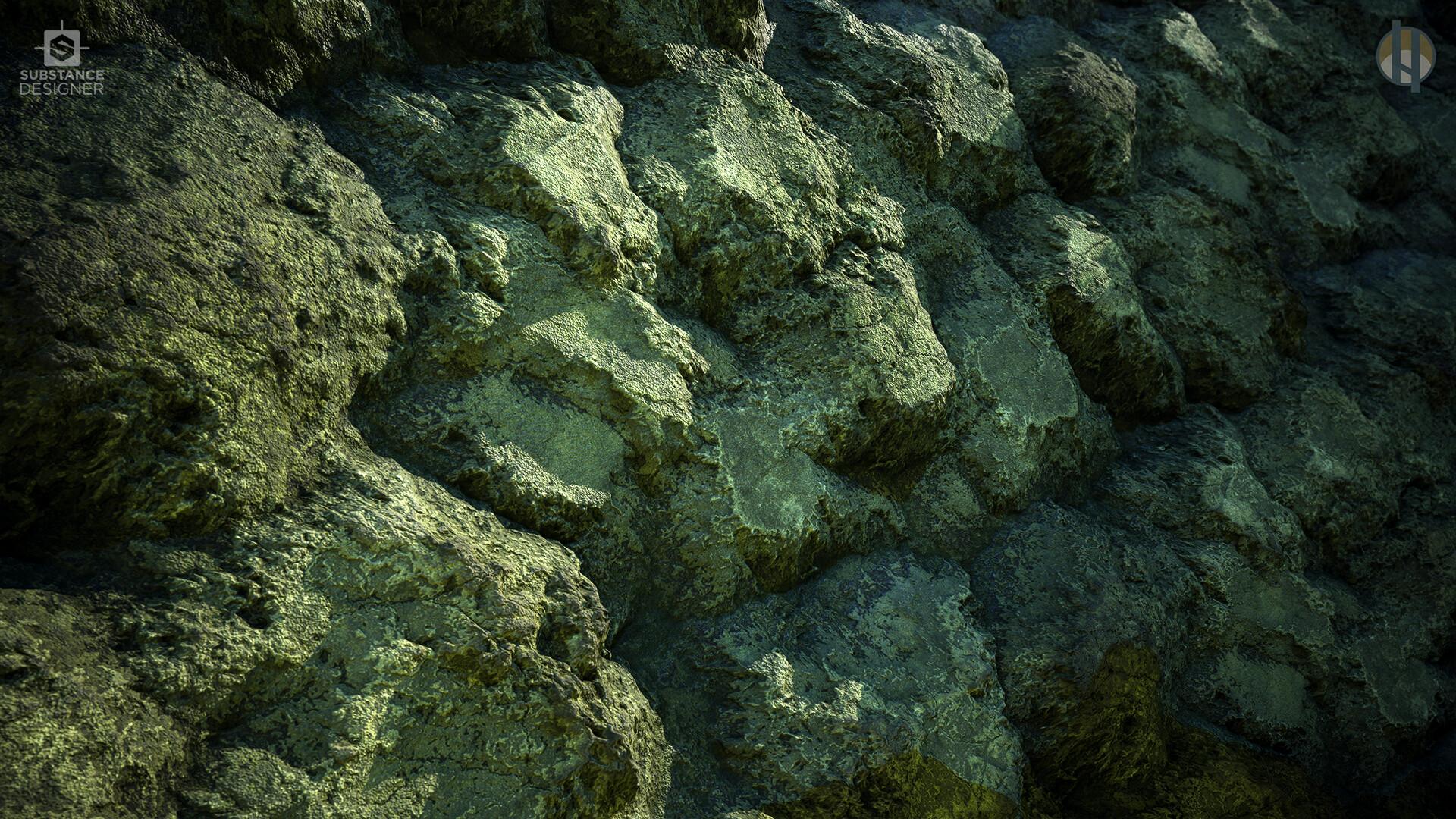 Justin hrala cave limestone wall wide
