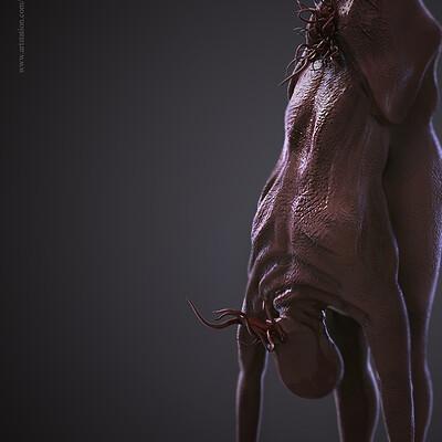 Surajit sen creature digital sculpture surajitsen aug2019