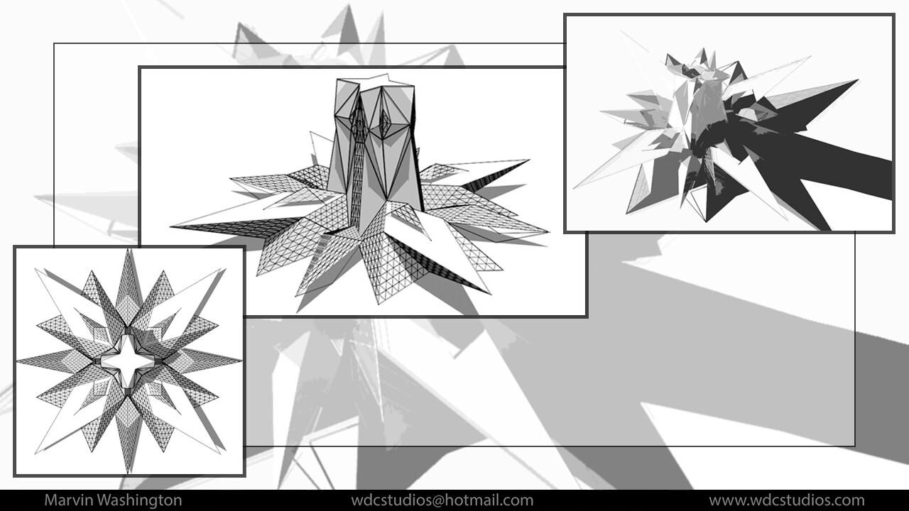 Marvin washington sun spear centered shapes