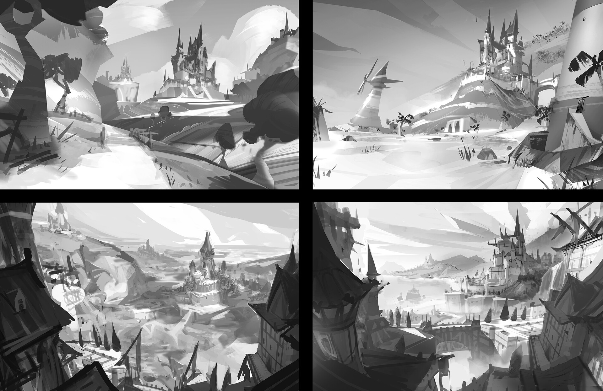 Robin lhebrard sketch thumbnails post artstation