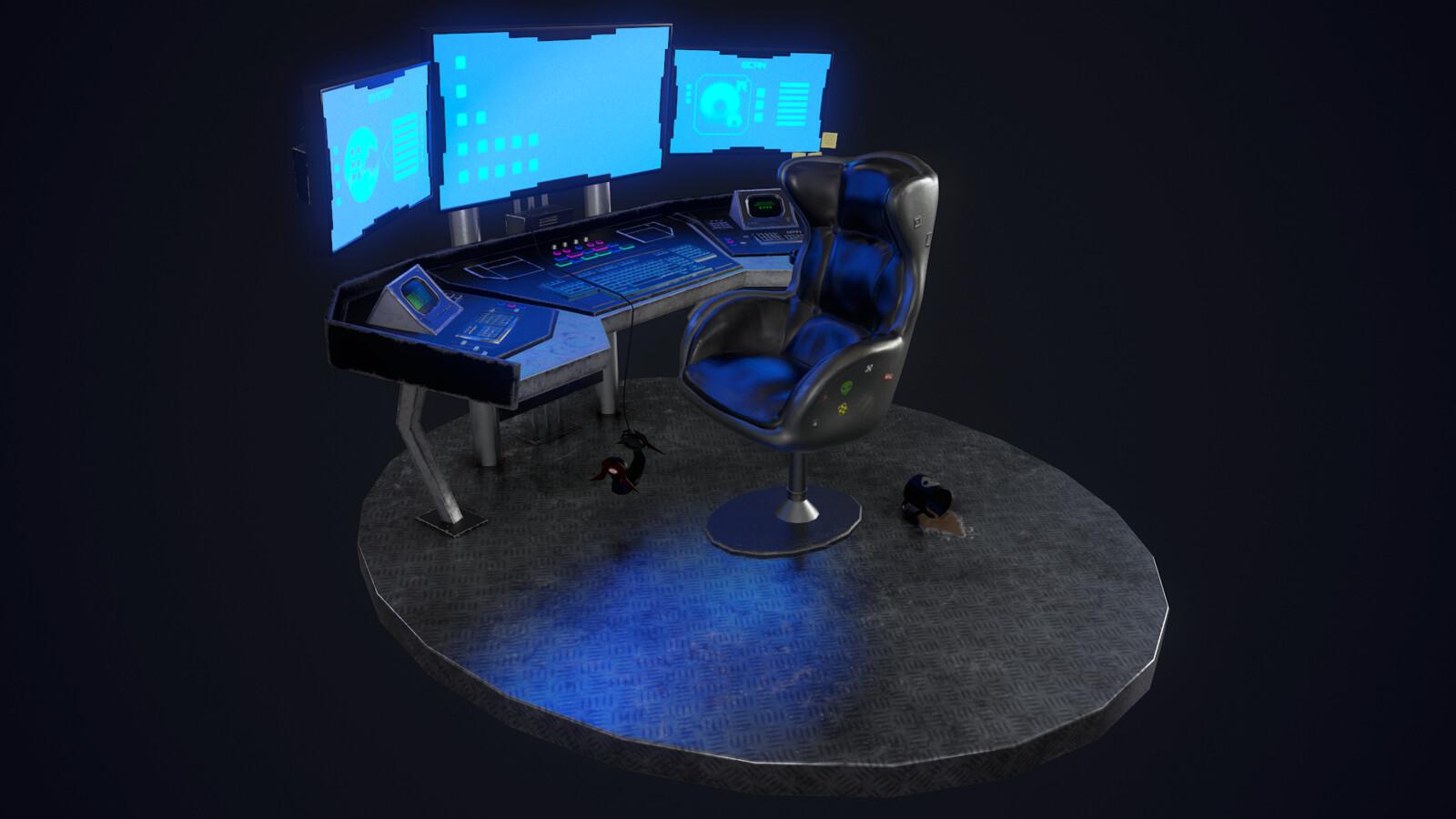 Sci-Fi Hacker Console