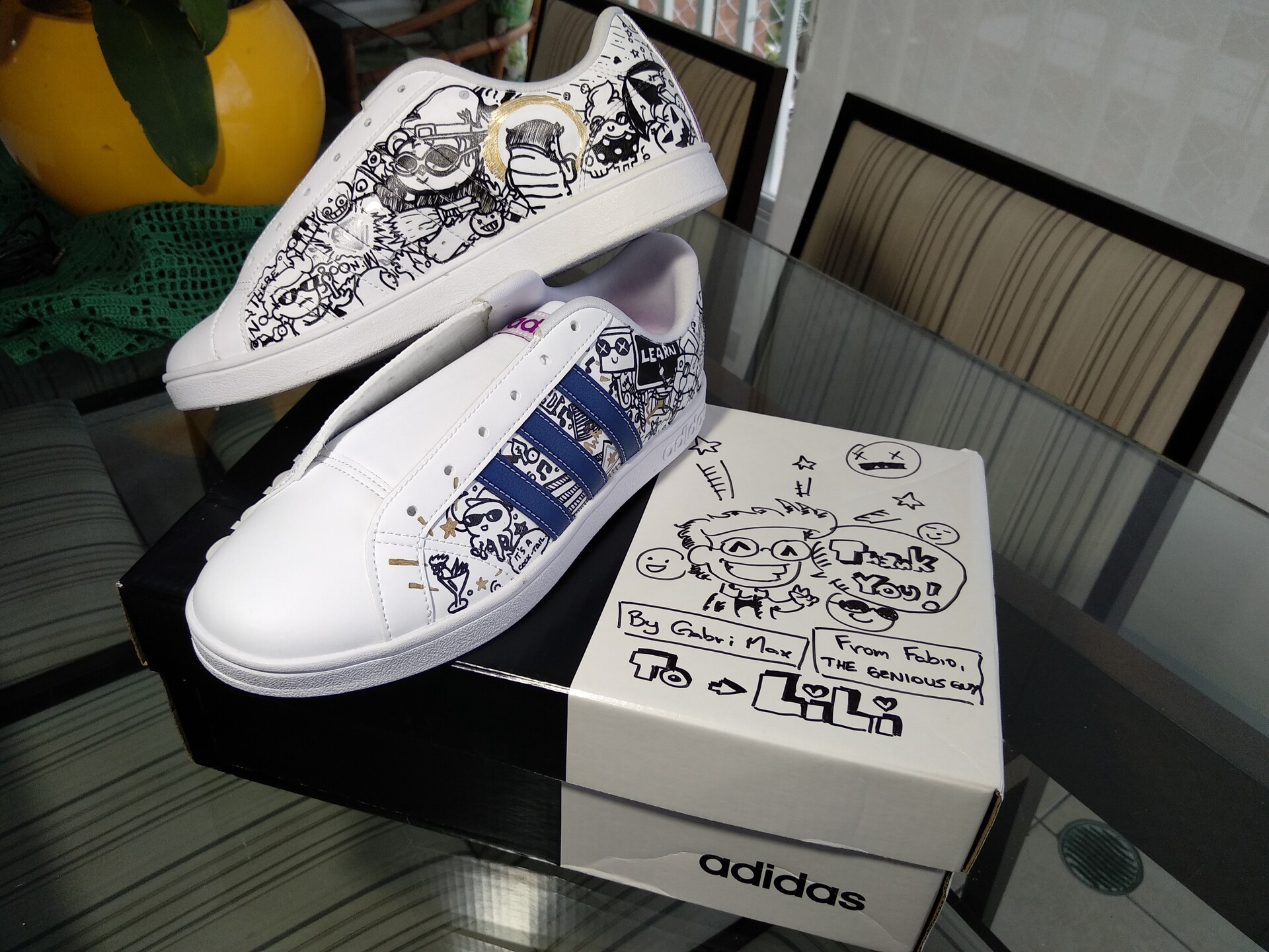 Ongekend Gabriel Xavier - Custom Adidas Superstar - Commission 2019 QH-89