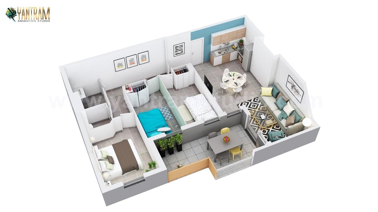 Yantram Architectural Design Studio - 3D Floor Plan Design of