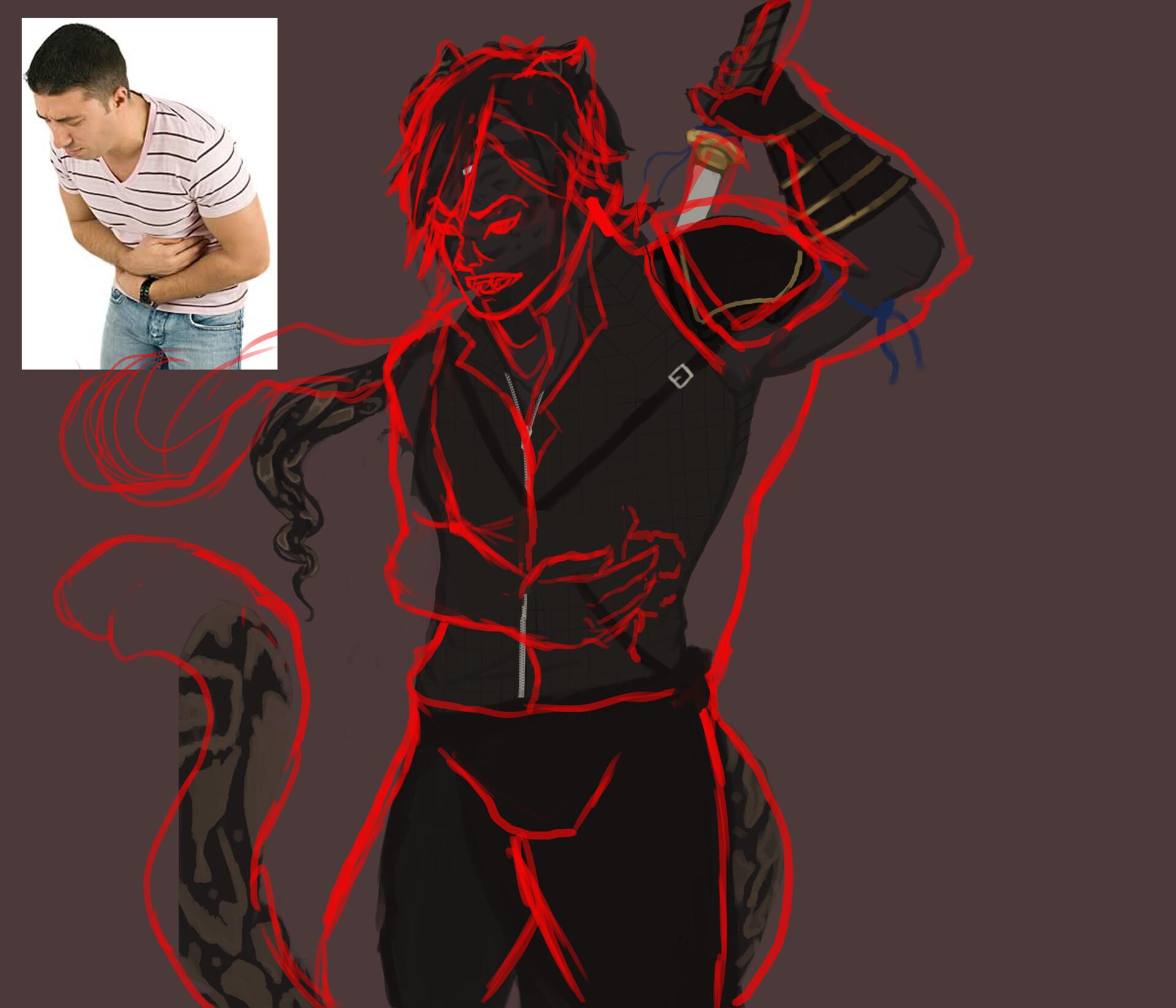 ArtStation - Character Illustration steps/progress, Rachel