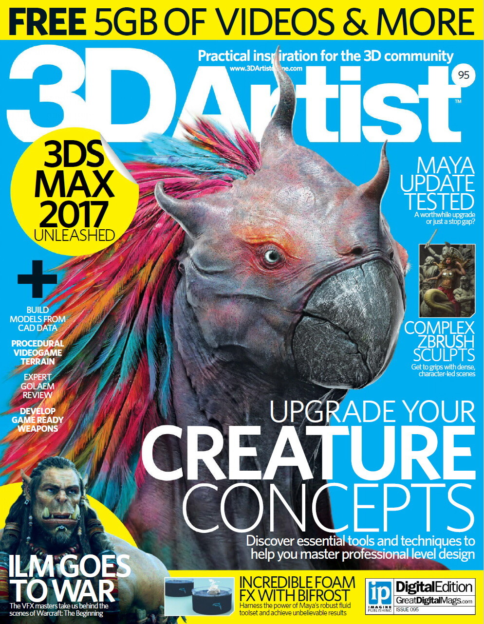 Jia hao 3d artist issue 95 cover