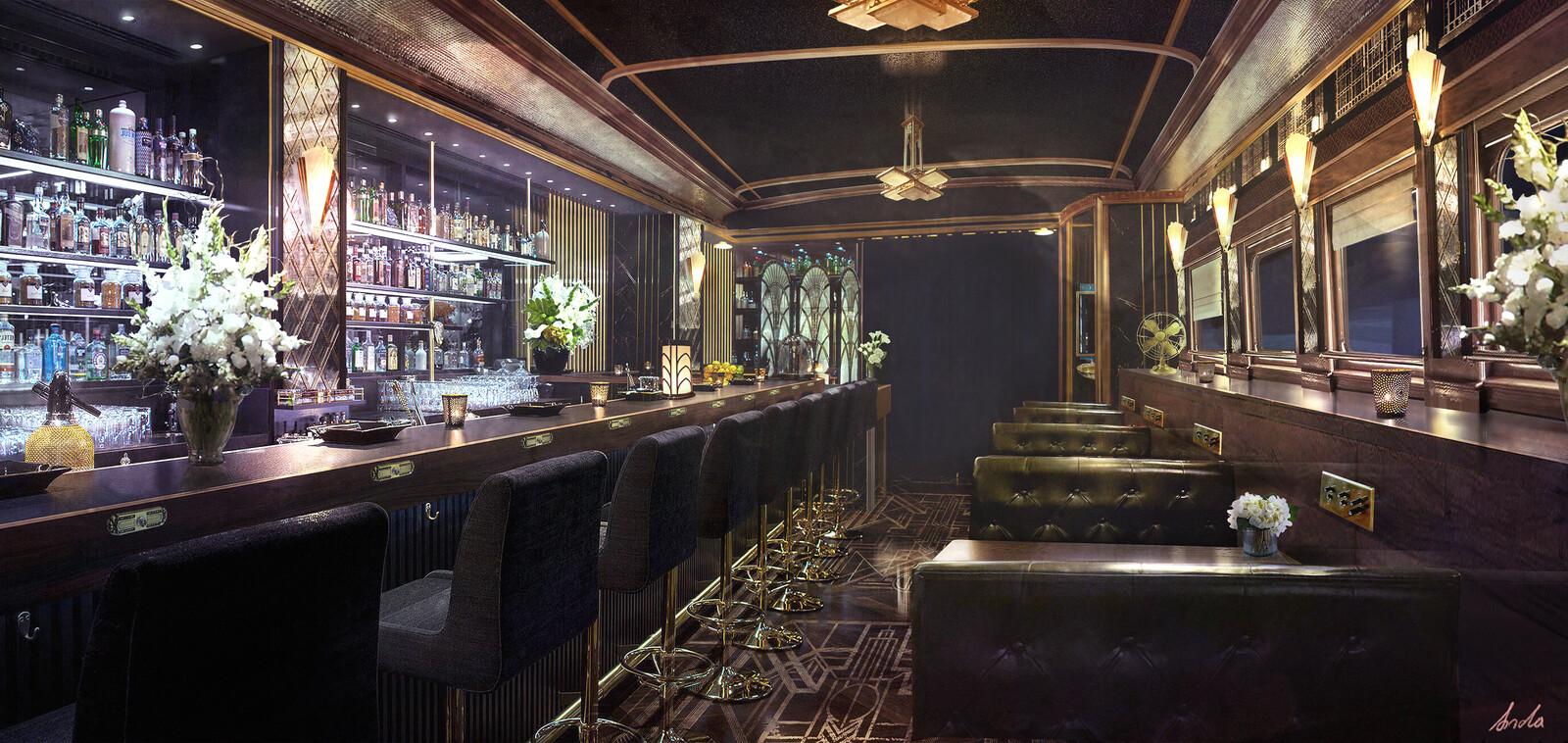 Art Deco Train Bar