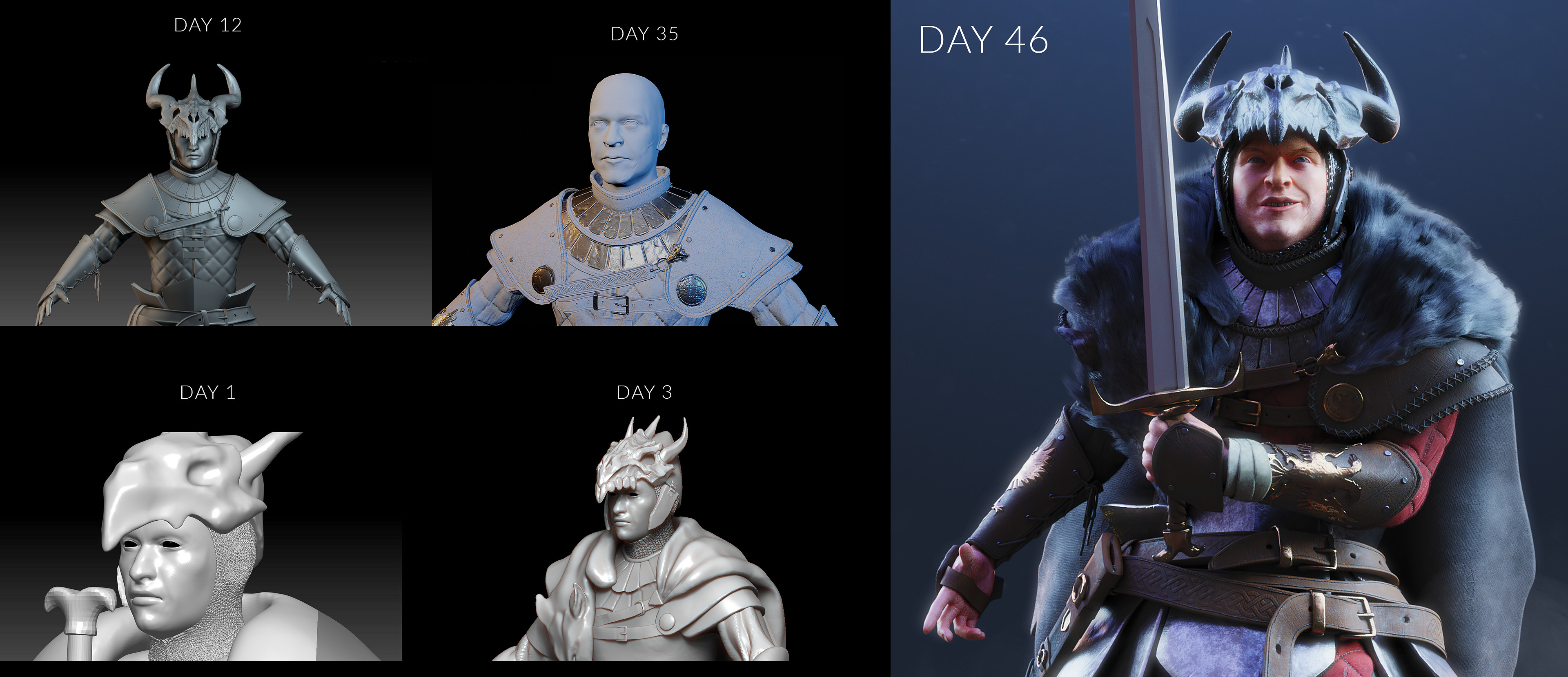You can see the challenge thread with full WIP here: https://www.artstation.com/contests/the-legend-of-king-arthur/challenges/68/submissions/45860
