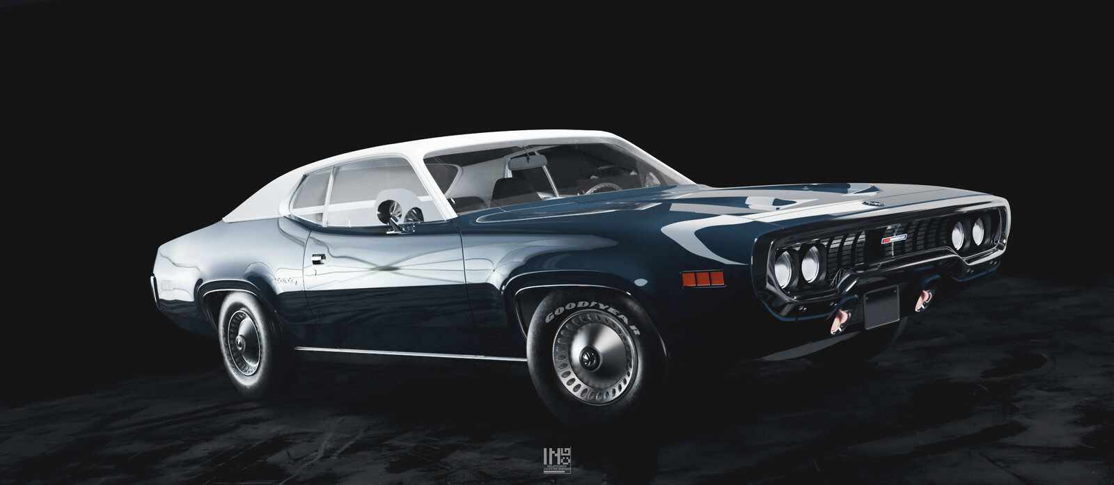 Plymouth Satellite - Car render Study