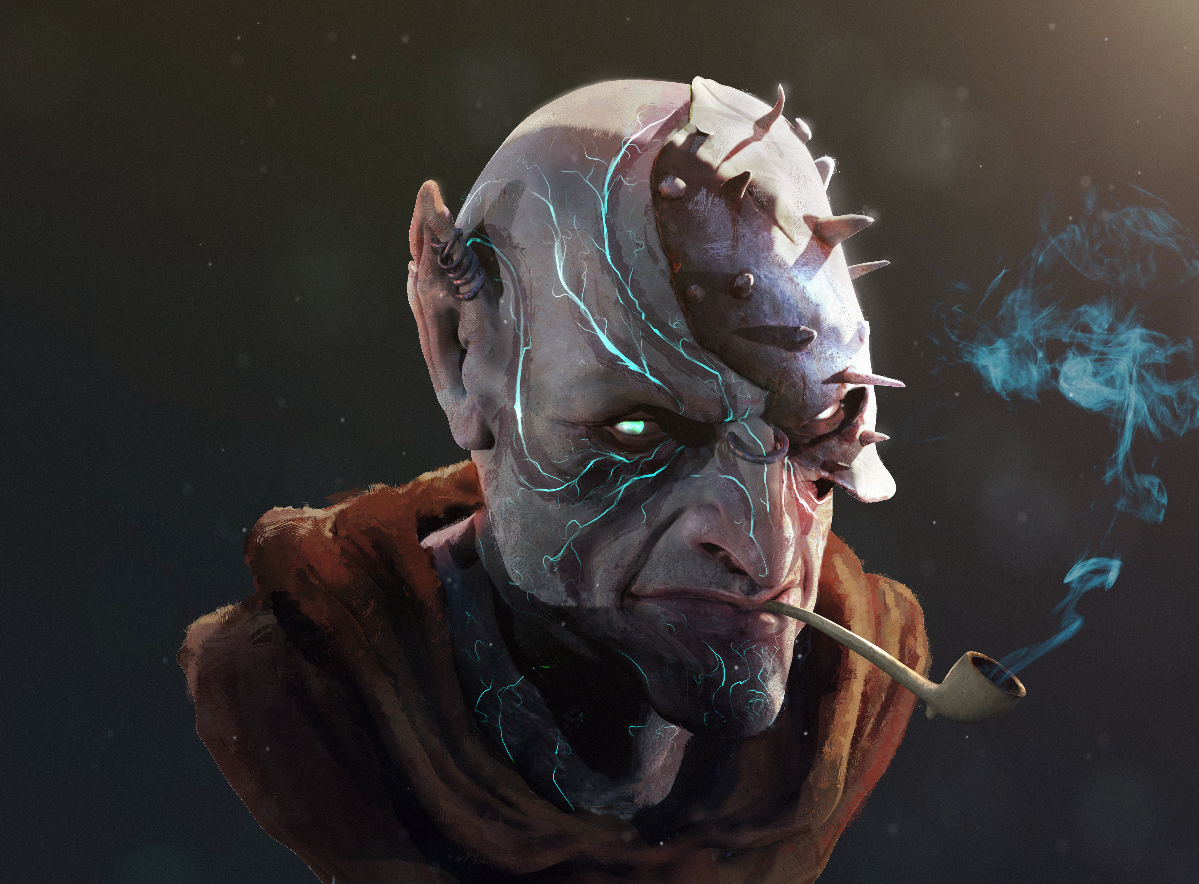 quick character concept- about an hour or so on the sculpt and a couple more on the paint