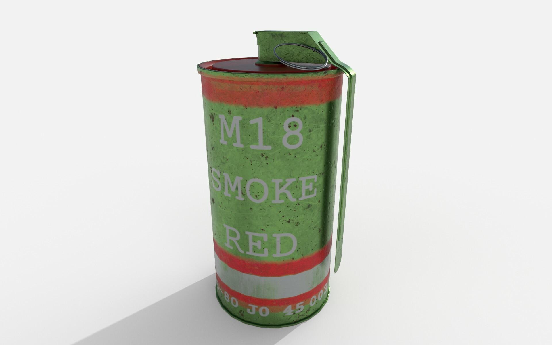Harrison Reeves - M18 Smoke Grenade - Red