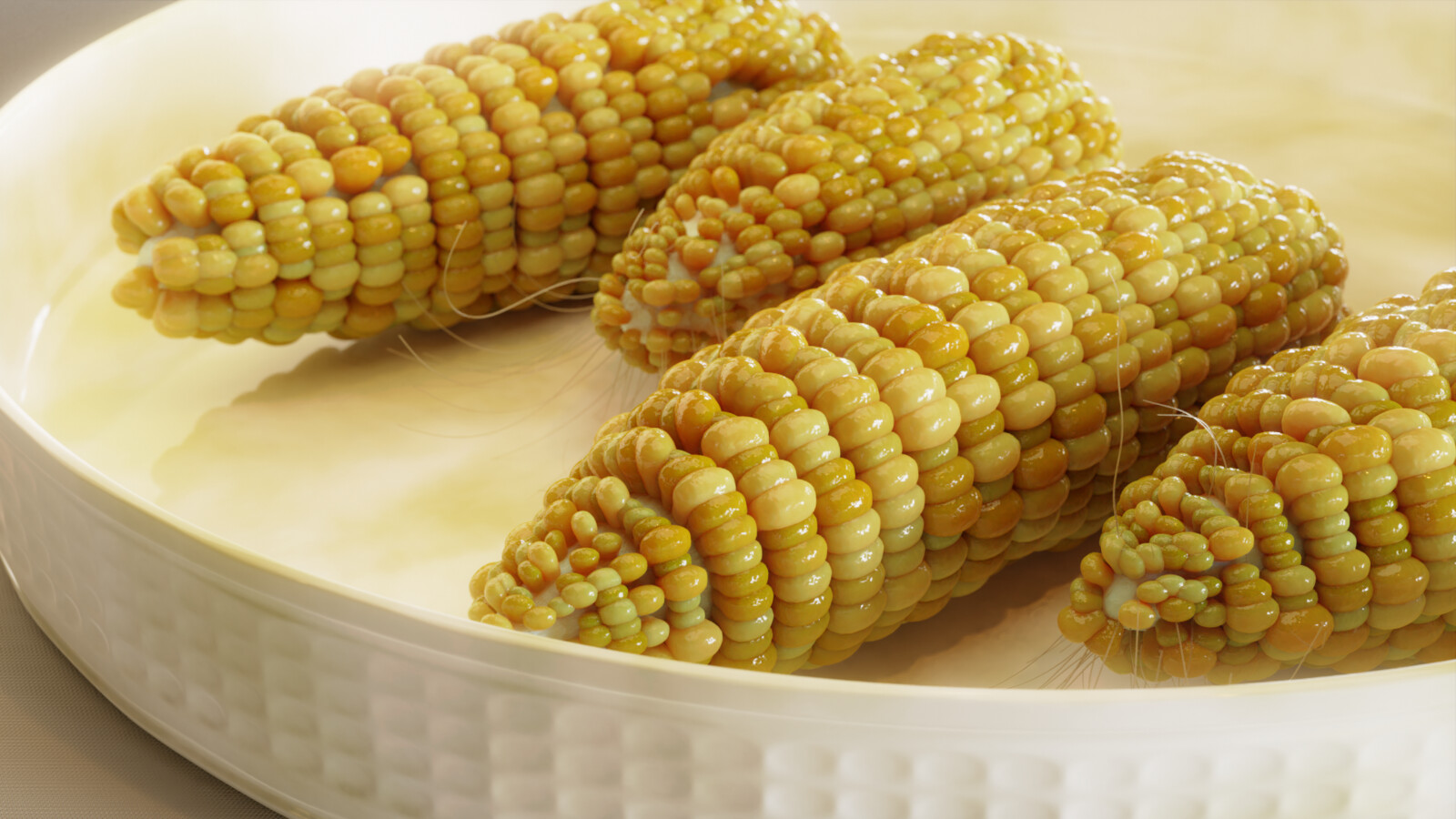Corn Cobs in Blender