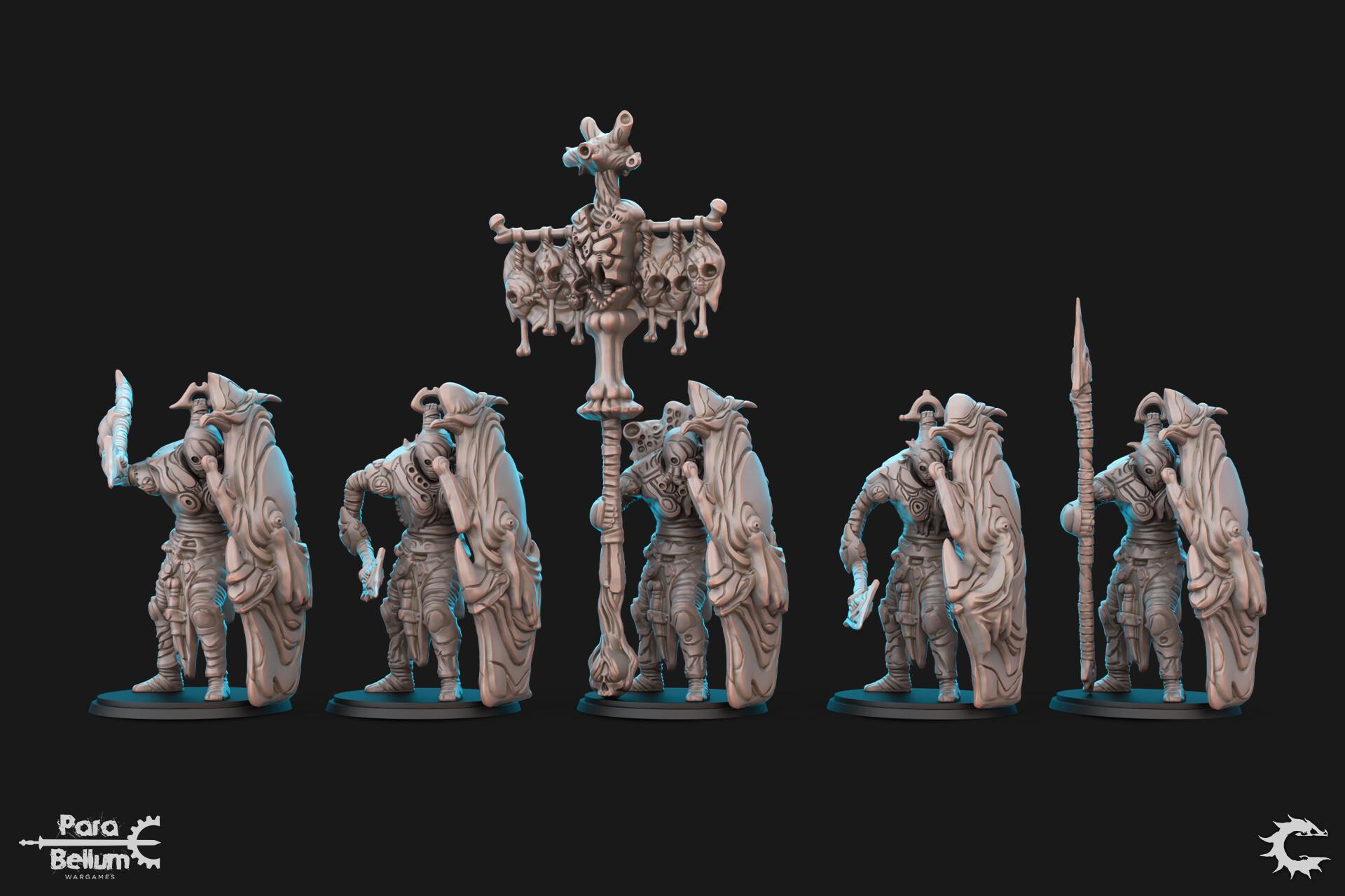 Production Ready Sculpts.  Additional Poses & Parts Created from the Preliminary Sculpt.