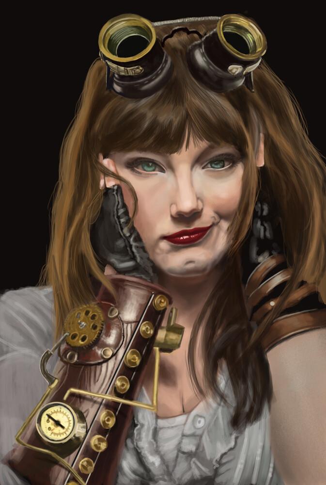 Steampunk portrait study