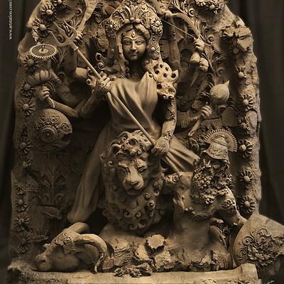 Surajit sen mahamaya goddess durgal sculpture surajitsen aug2019