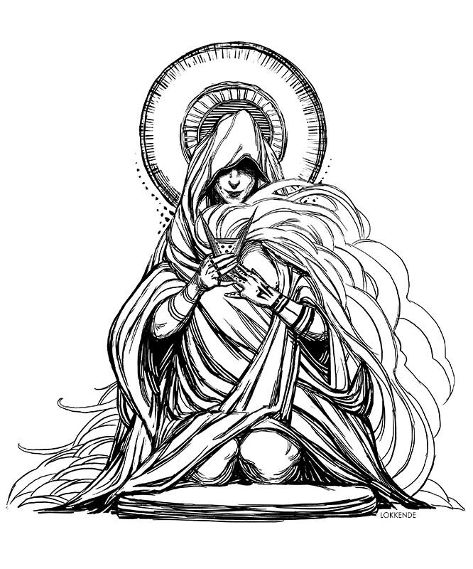 Lokkende priestess