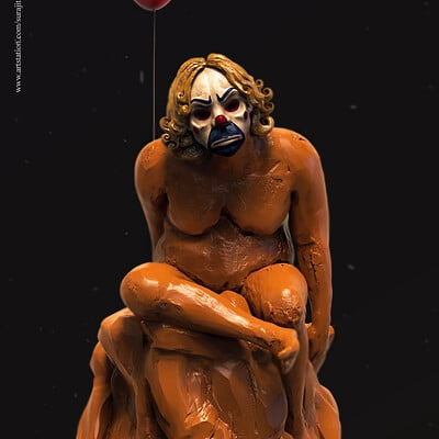 Surajit sen joker digital sculpture surajitsen aug2019