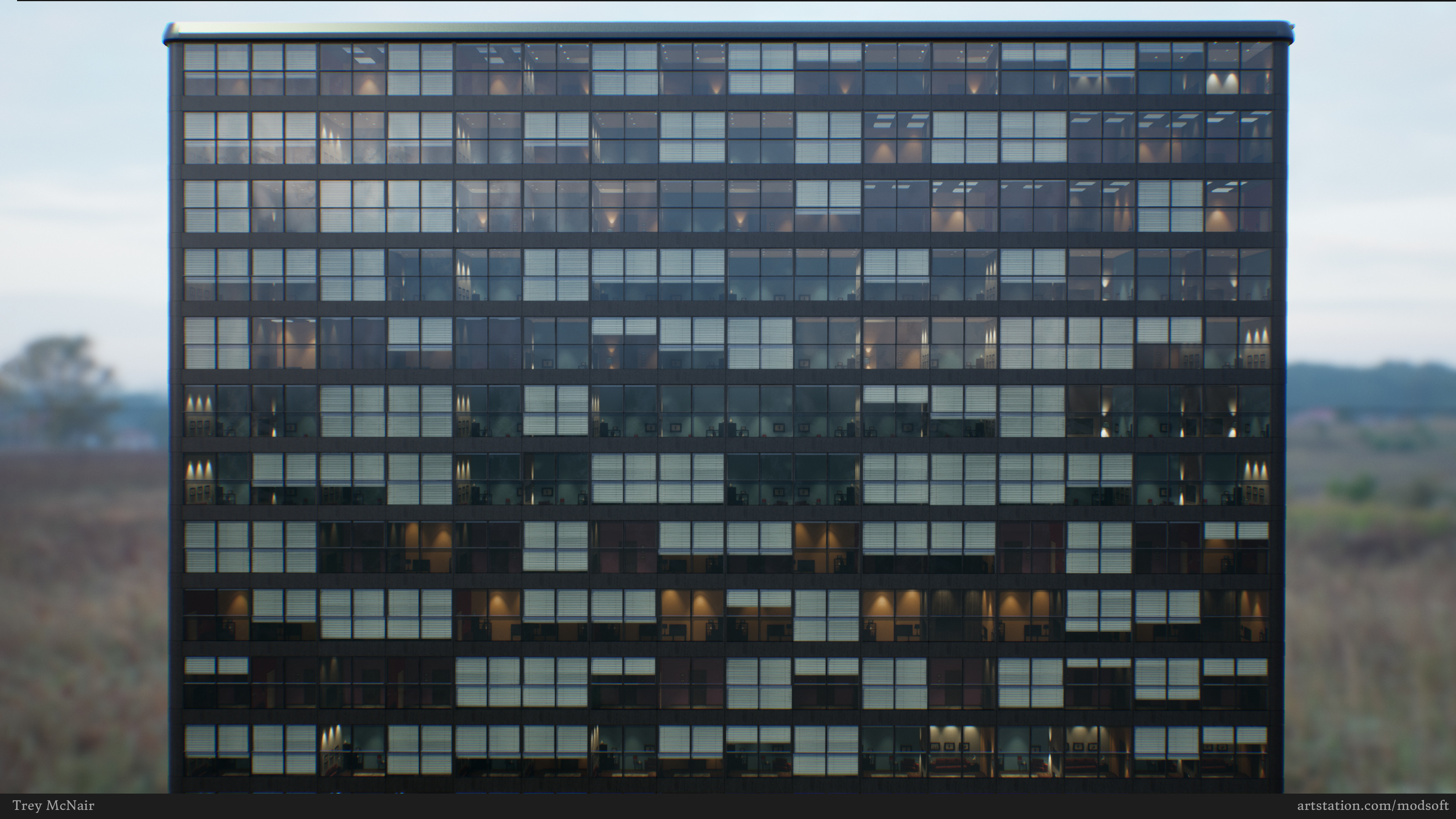 Glass building windows test