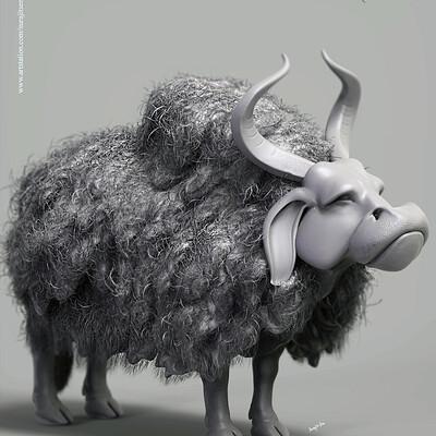 Surajit sen anciant bull v1 digital sculpture surajitsen aug2019