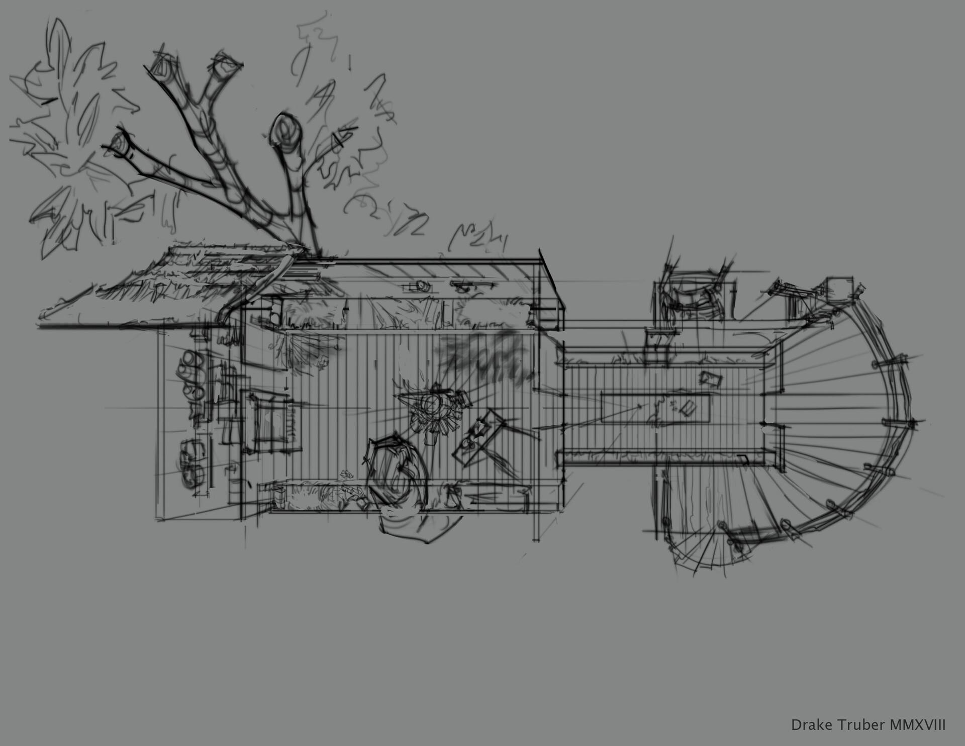 Drake truber treehouseplansketch