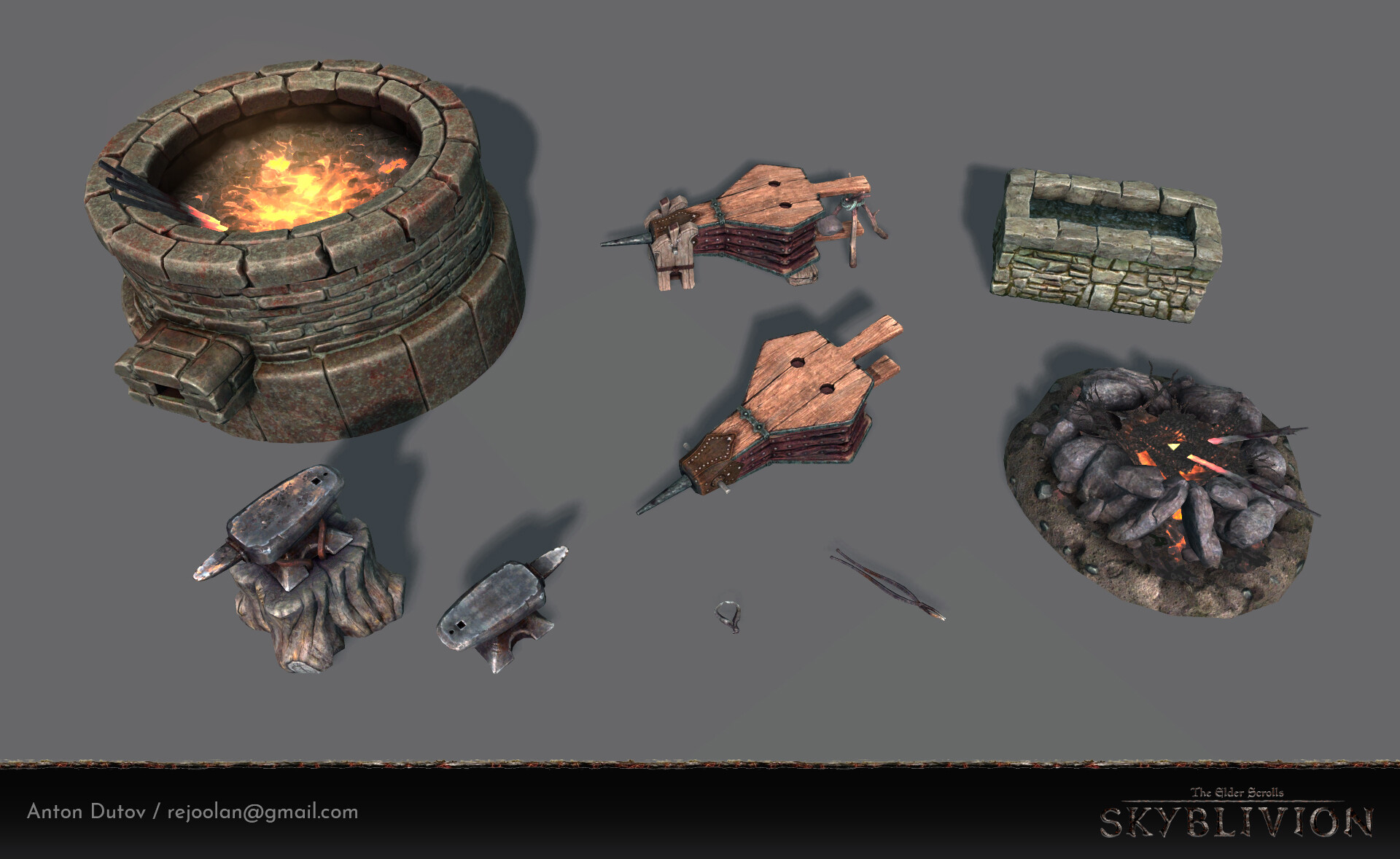 In-game render asset