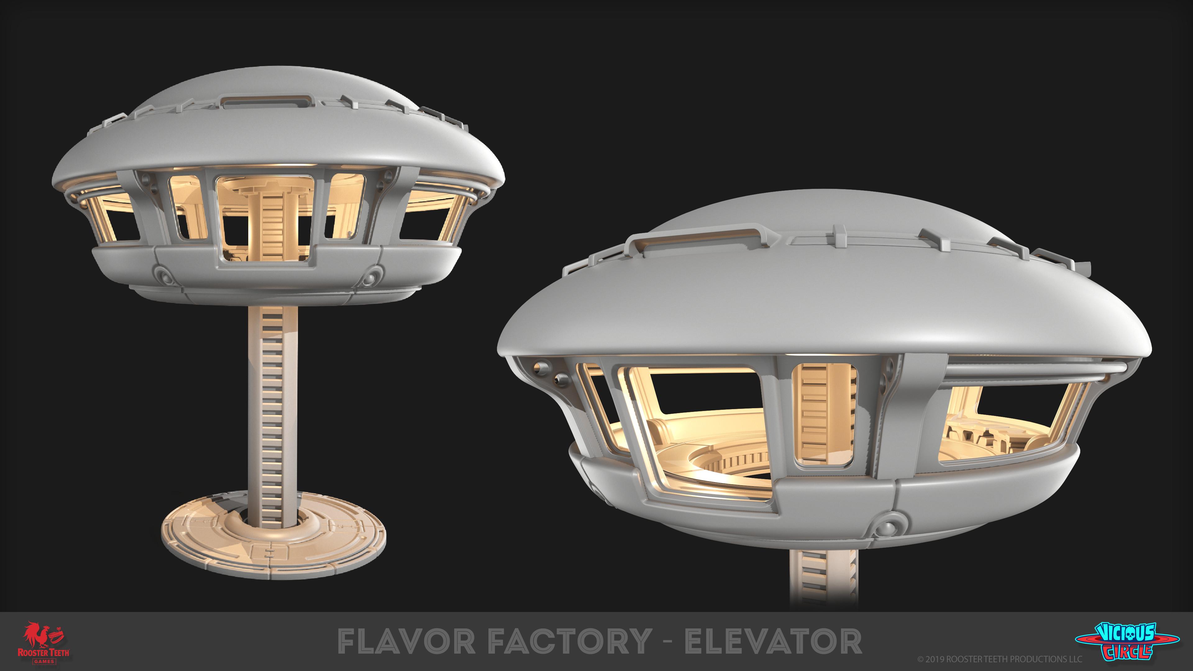 Elevator - Highpoly model - Marmoset Render -