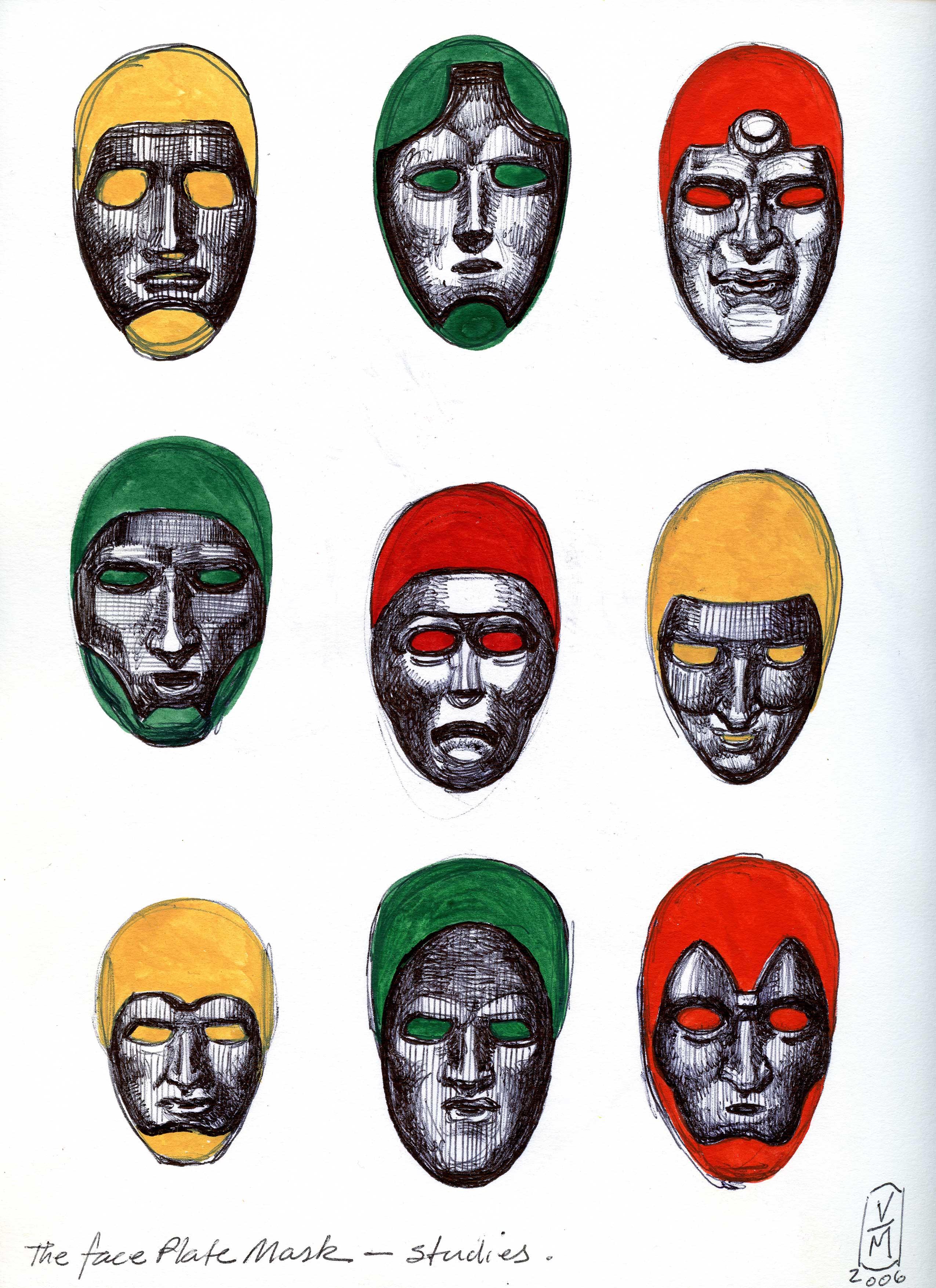 Team masks for the Game. Black Ice.